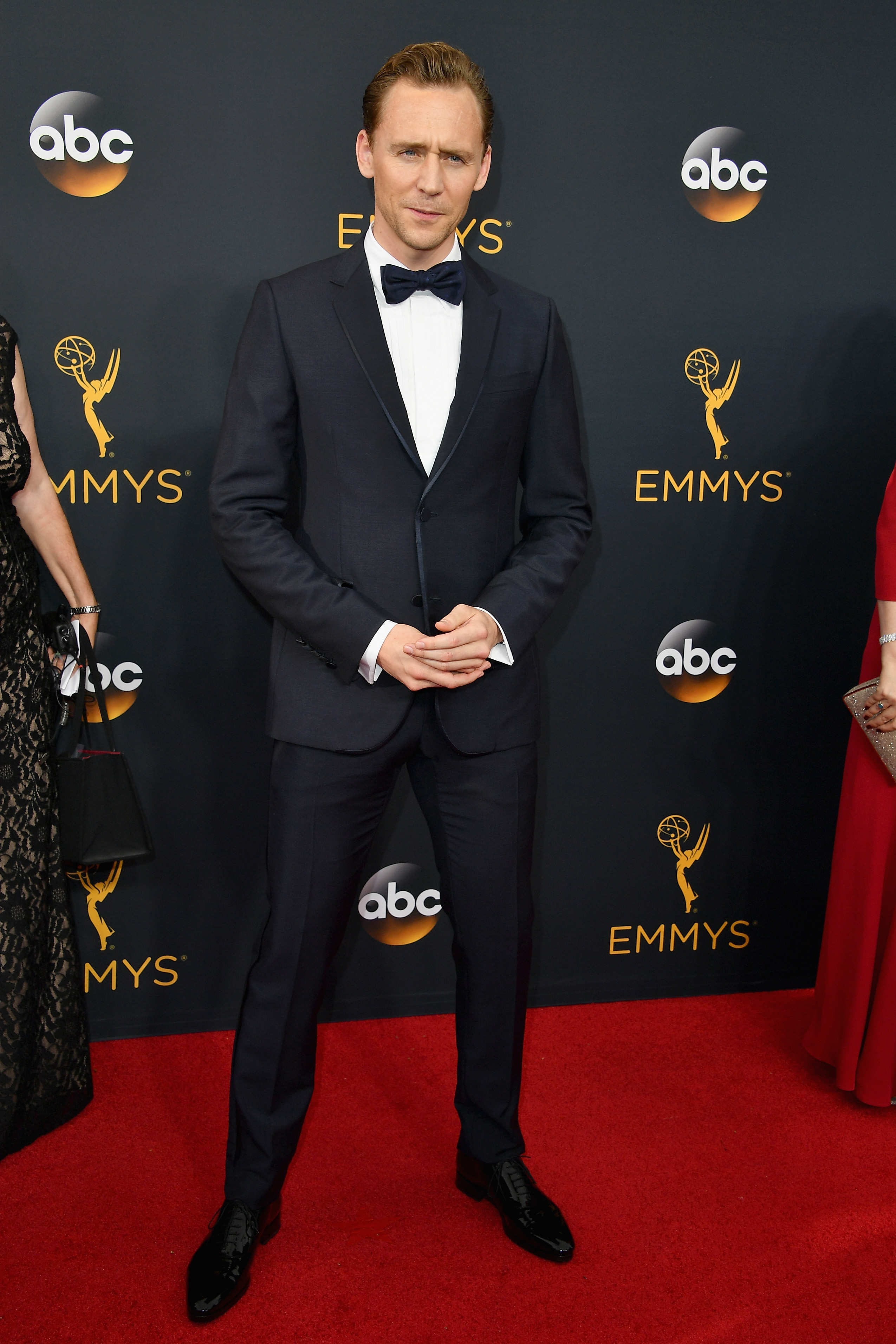 Tom Hiddleson arrives at the 68th Annual Primetime Emmy Awards at Microsoft Theater on Sept. 18, 2016 in Los Angeles.