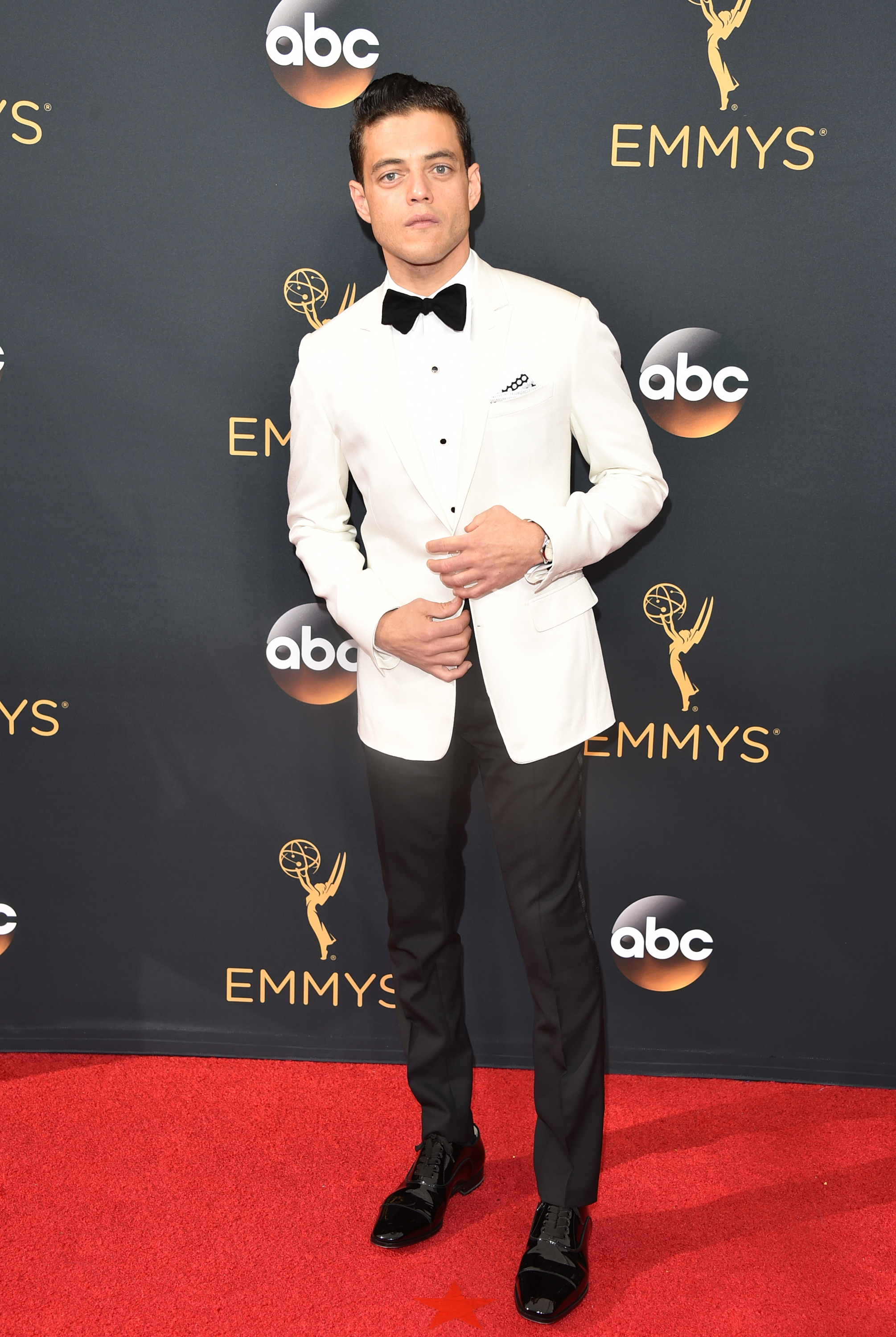 Rami Malek arrives at the 68th Annual Primetime Emmy Awards at Microsoft Theater on Sept. 18, 2016 in Los Angeles.