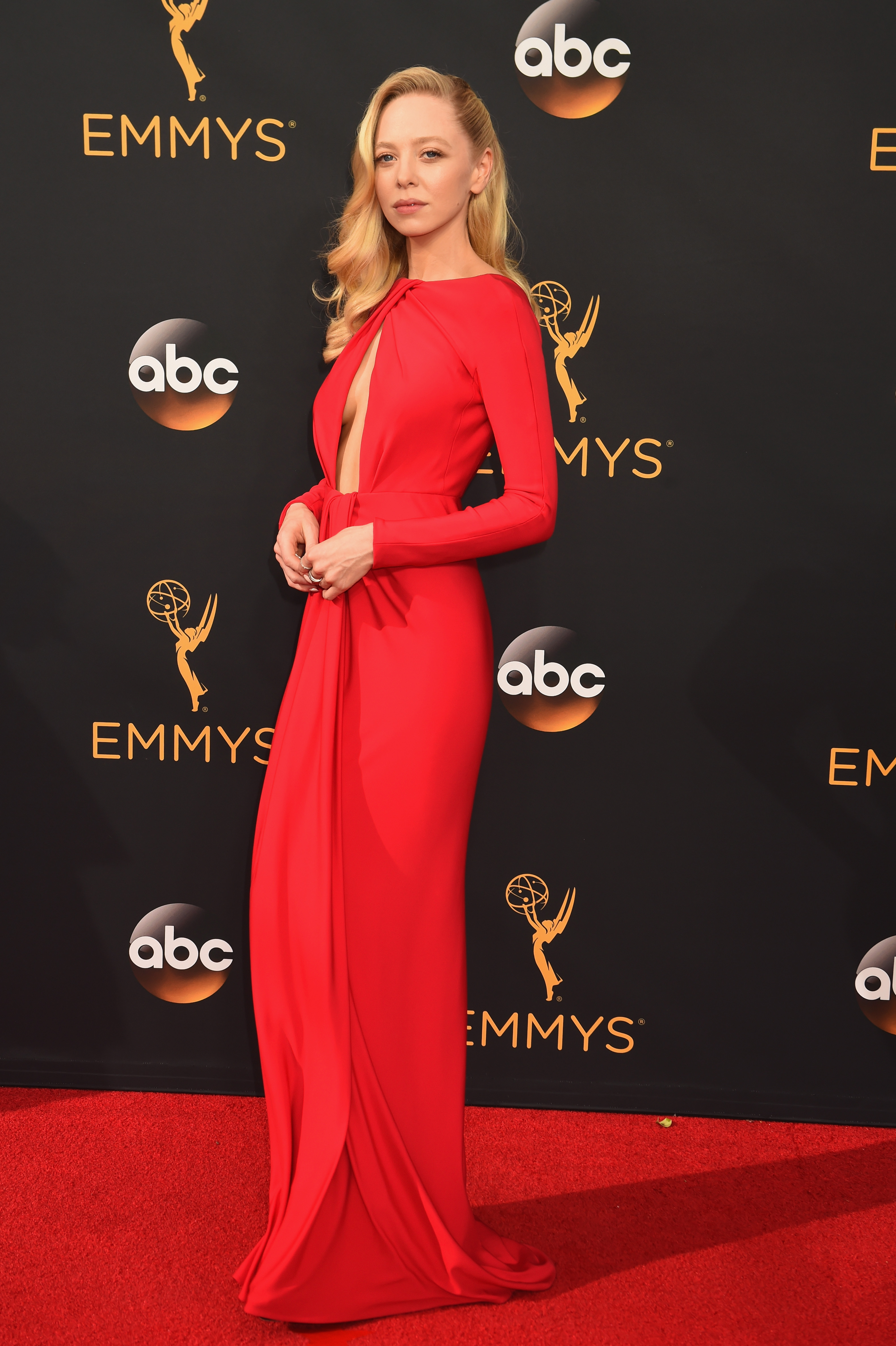Portia Doubleday arrives at the 68th Annual Primetime Emmy Awards at Microsoft Theater on Sept. 18, 2016 in Los Angeles.
