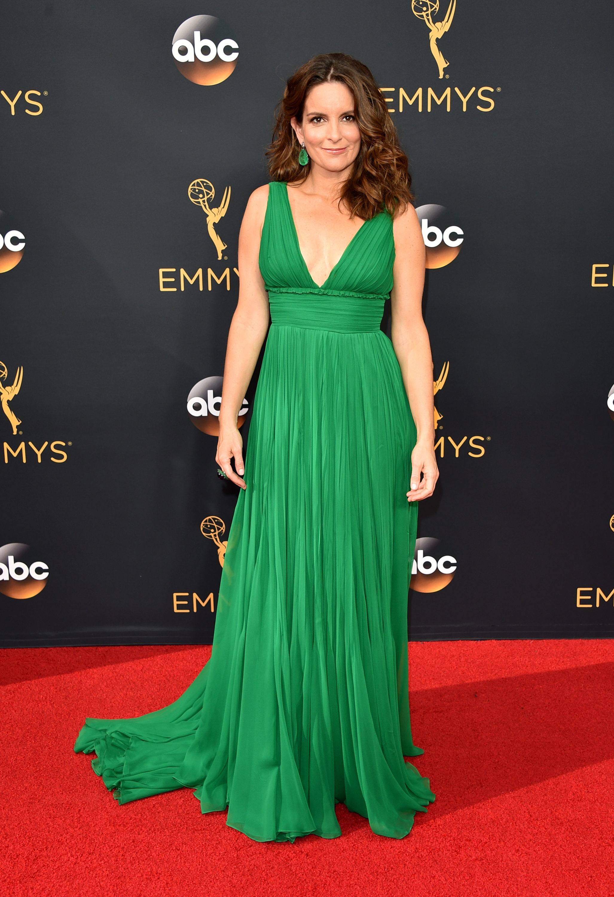 Tina Fey arrives at the 68th Annual Primetime Emmy Awards at Microsoft Theater on Sept. 18, 2016 in Los Angeles.