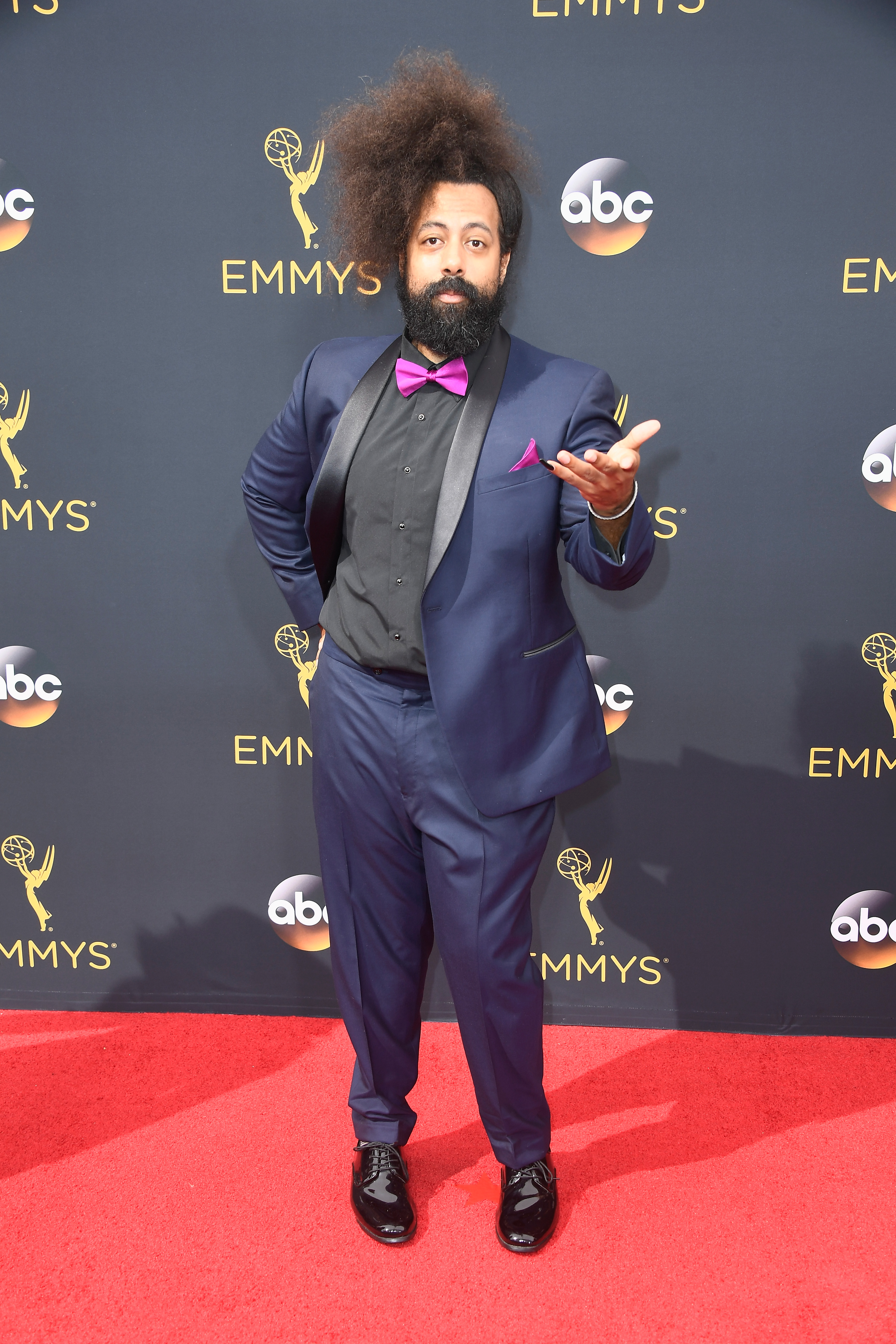 Reggie Watts arrives at the 68th Annual Primetime Emmy Awards at Microsoft Theater on Sept. 18, 2016 in Los Angeles.