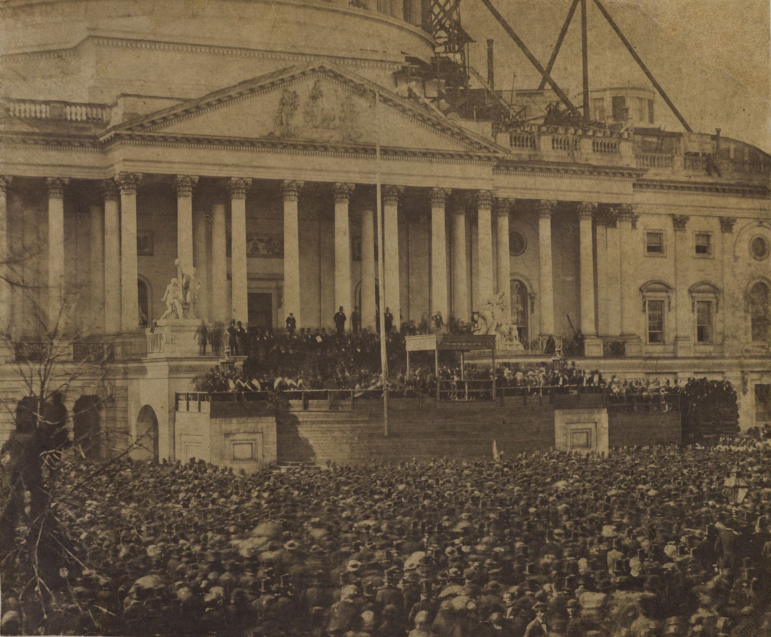 The first inaugural of Abraham Lincoln, March 4, 1861.