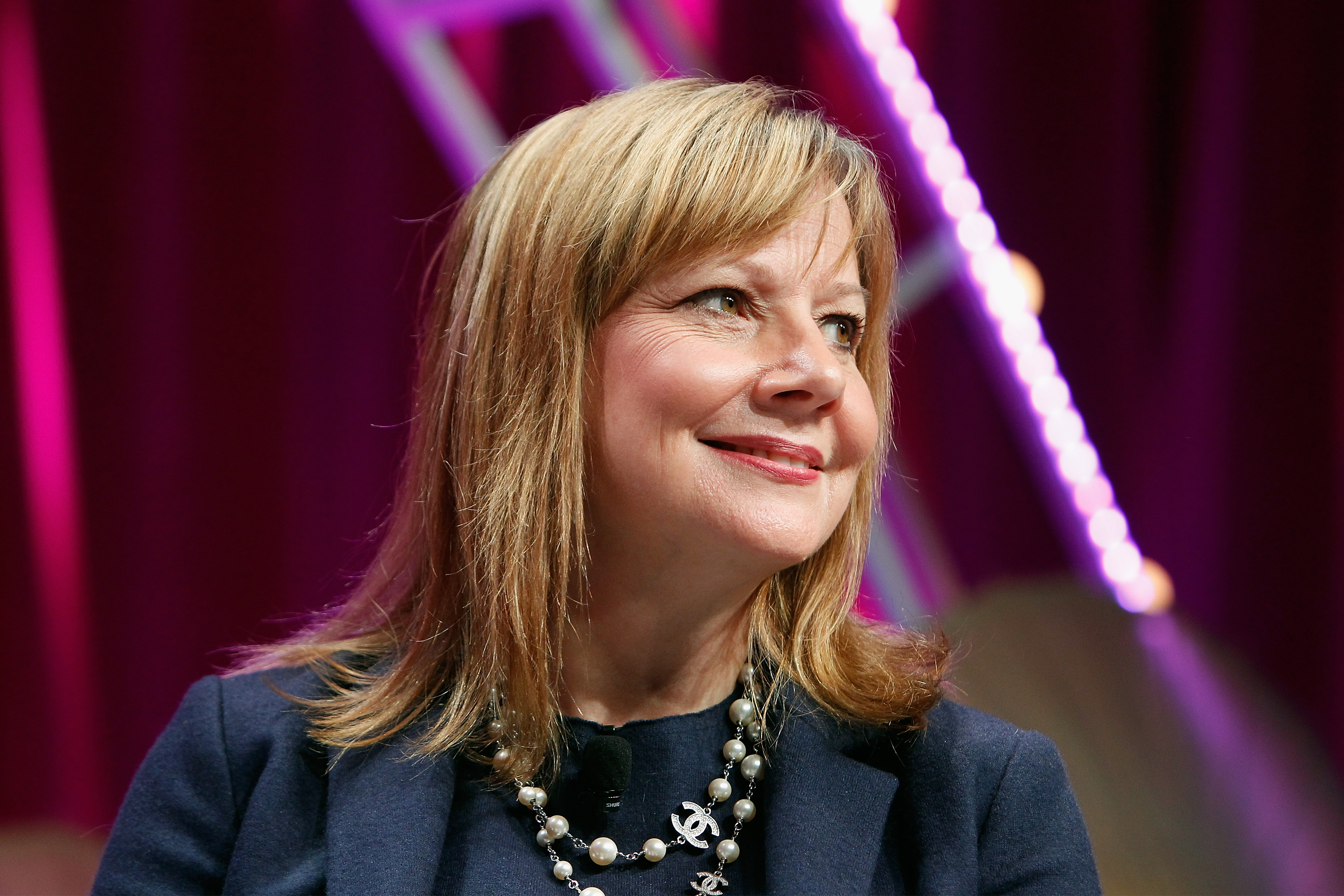 CEO of General Motors Mary Barra speaks onstage during Fortune's Most Powerful Women Summit in Washington, DC, last October.