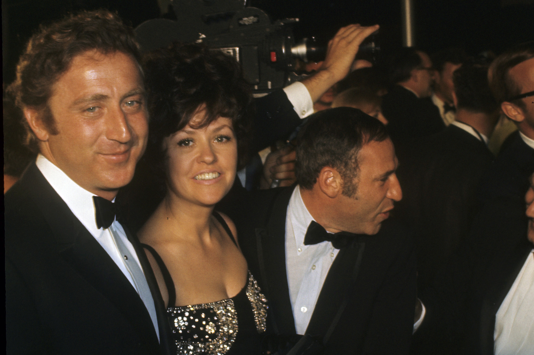 From left: Gene Wilder, Mary Joan Schultz and Mel Brooks at the Academy Awards on April 14, 1969.