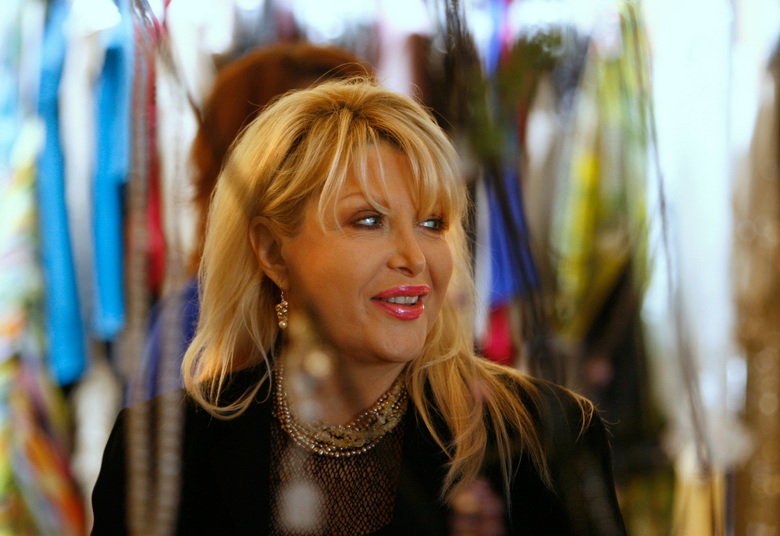 Gennifer Flowers attends a fashion show benefit in Tarpon Springs, Fla., on Feb. 24, 2011.