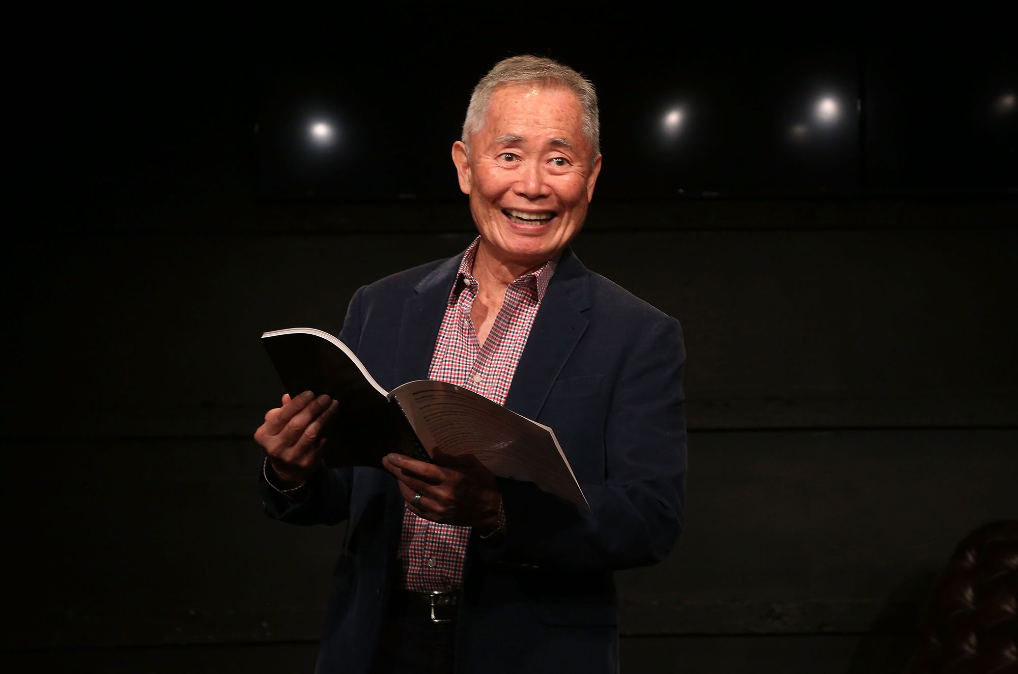 George Takei performing in the new play  White Rabbit Red Rabbit  at The Westside Theatre on June 15, 2016 in New York City.