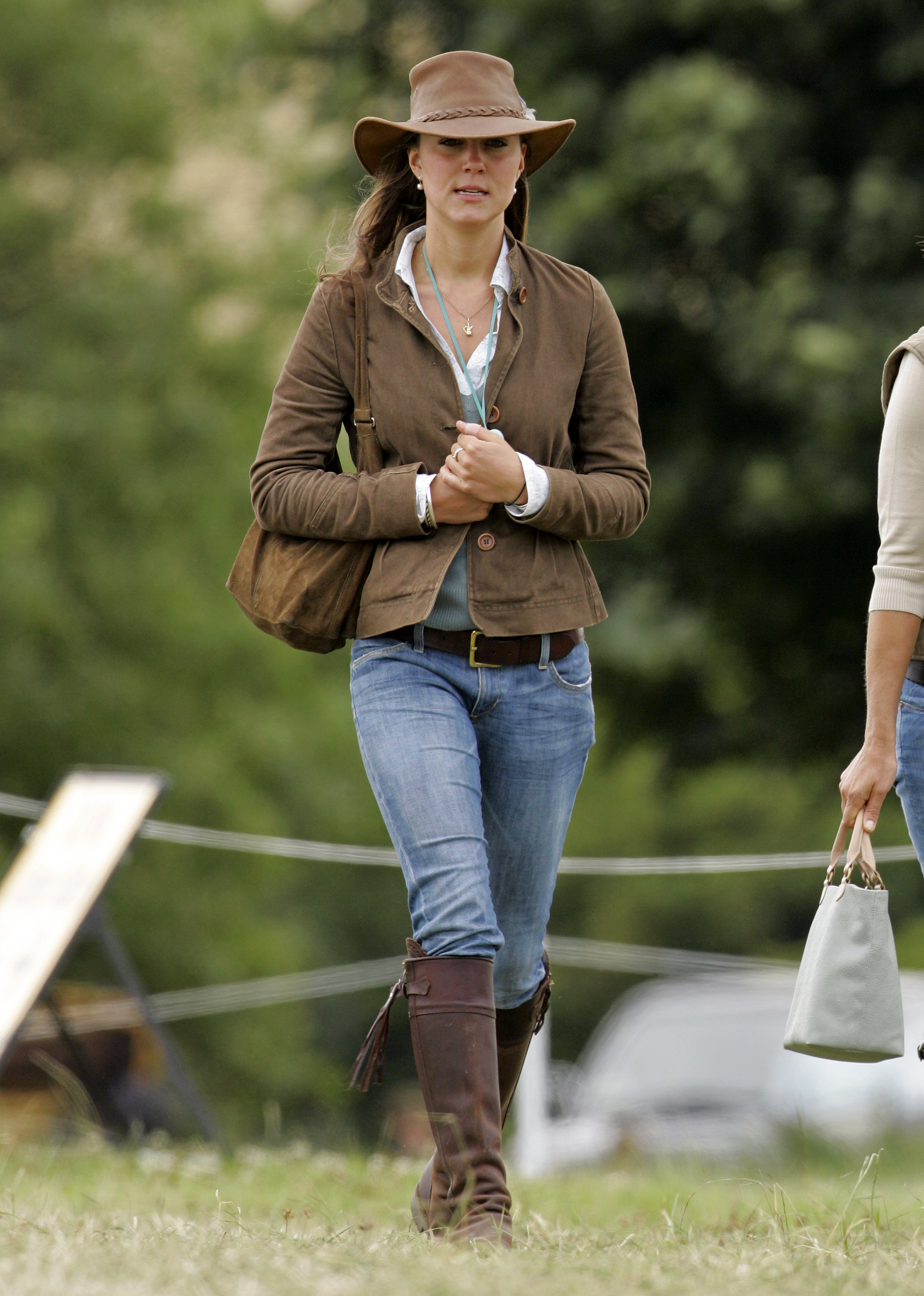 Kate Middleton attends the Festival of British Eventing at Gatcombe Park on August 6, 2005 in Stroud, England.