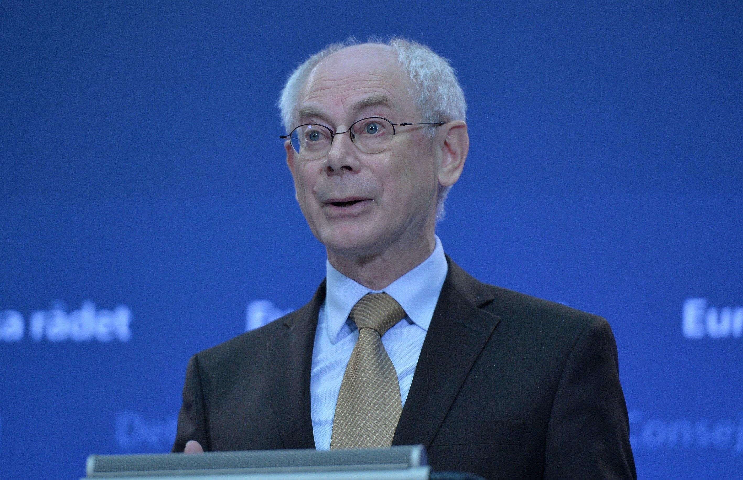 Herman Van Rompuy speaking in Brussels in this Dec. 1, 2014 file photo.