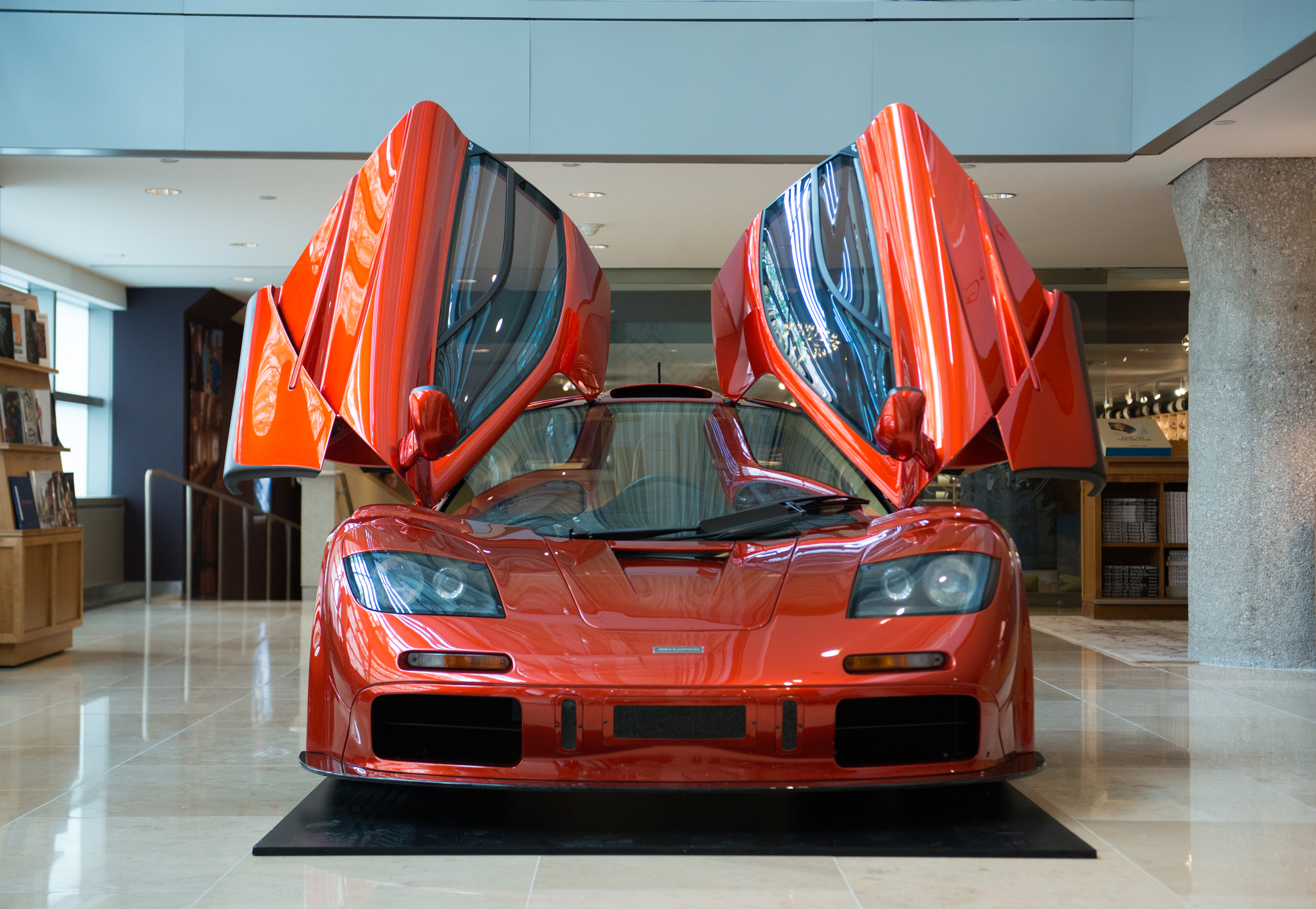 General view of the 1998 McLaren F1 'LM-Specification' supercar during McLaren's F1 New York media preview at Sotheby's on June 3, 2015 in New York City.