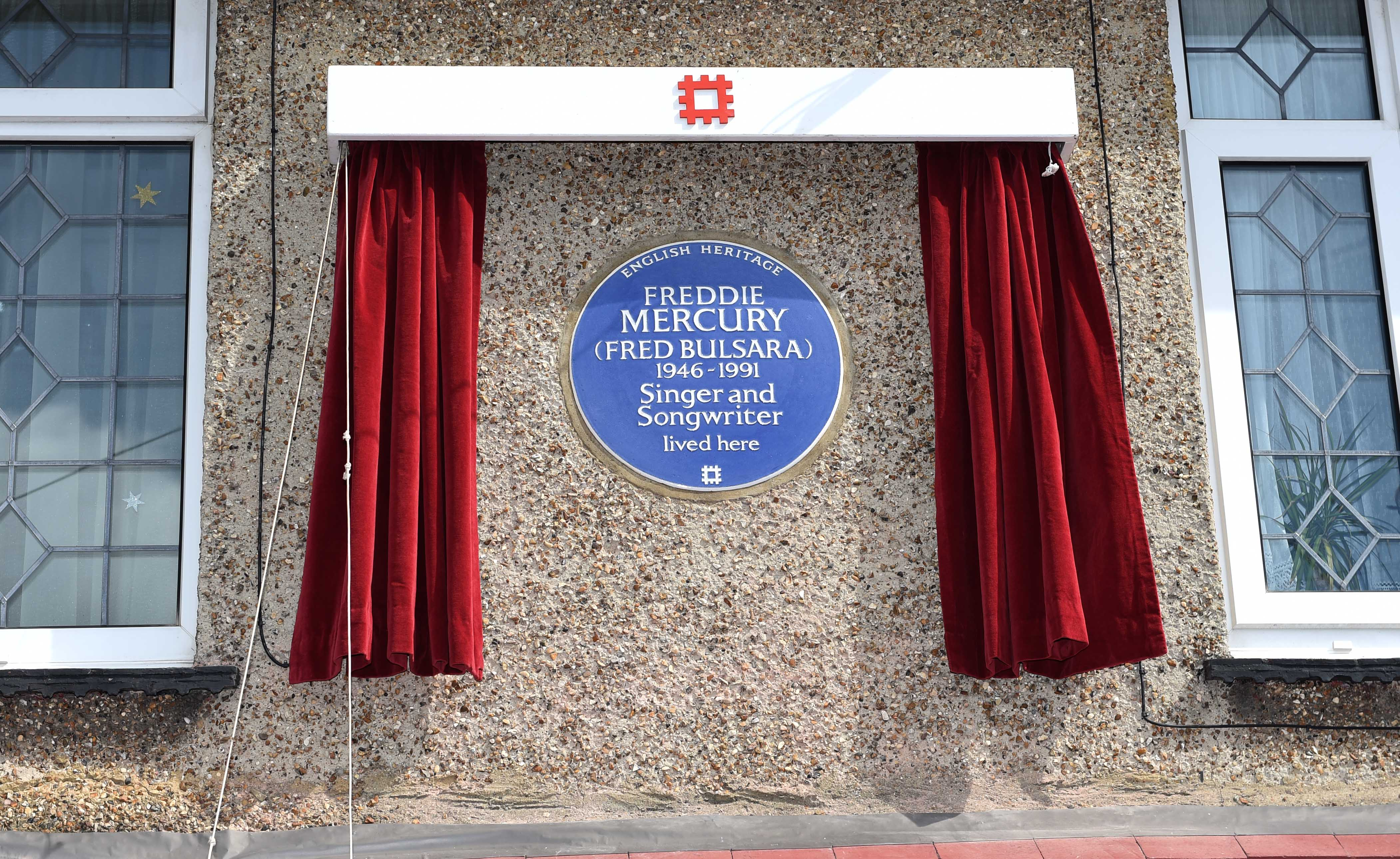 The unveiling of an English Heritage Blue Plaque, commemorating where Freddie Mercury lived in Feltham, England, on Sept. 1, 2016.
