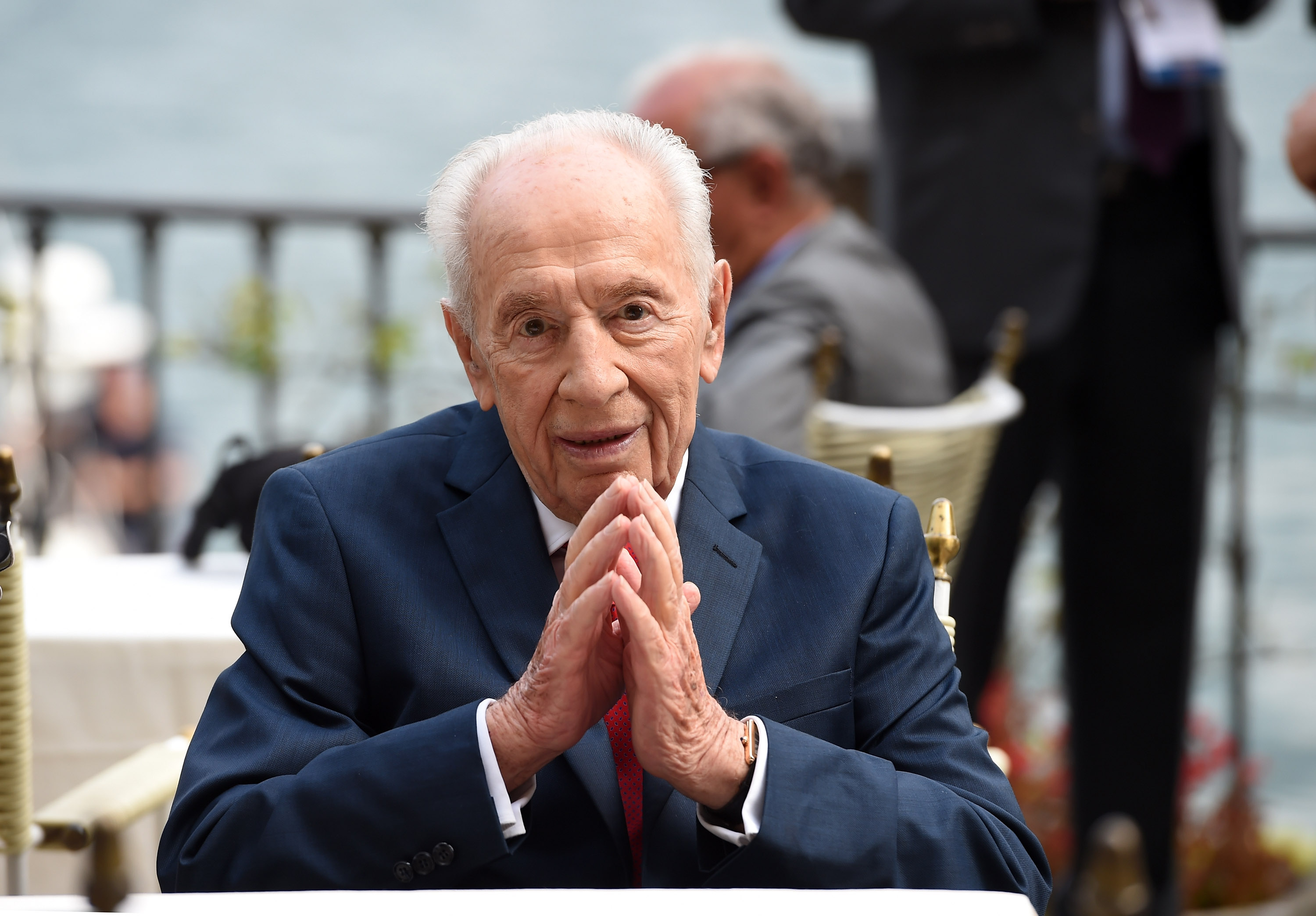 Former President of Israel Shimon Peres attends the Ambrosetti International Forum on September 2, 2016 in Cernobbio near Como, Italy.