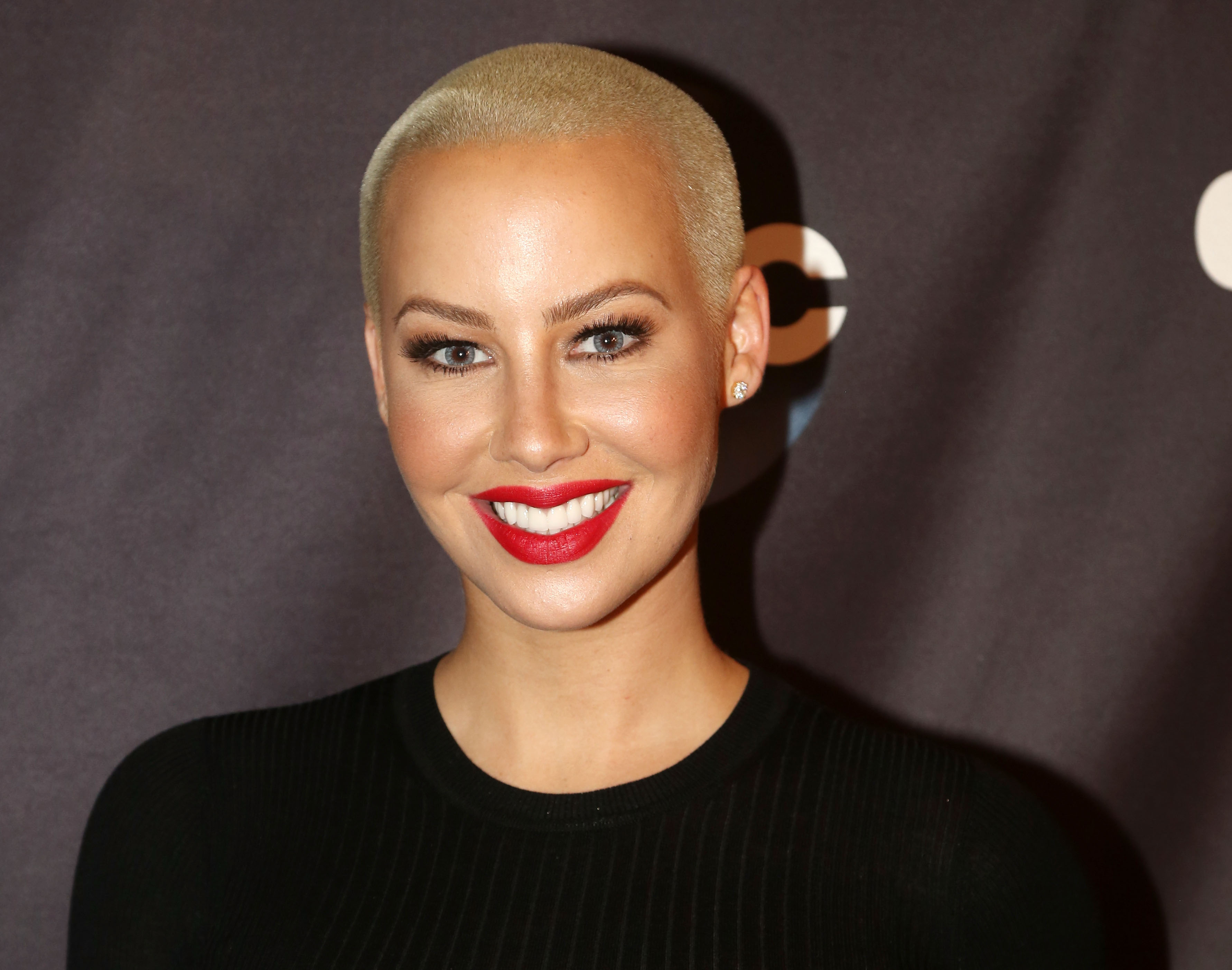 Amber Rose poses as Season 23 of  Dancing With The Stars  meets the press at Planet Hollywood Times Square on Sept. 7, 2016 in New York City.