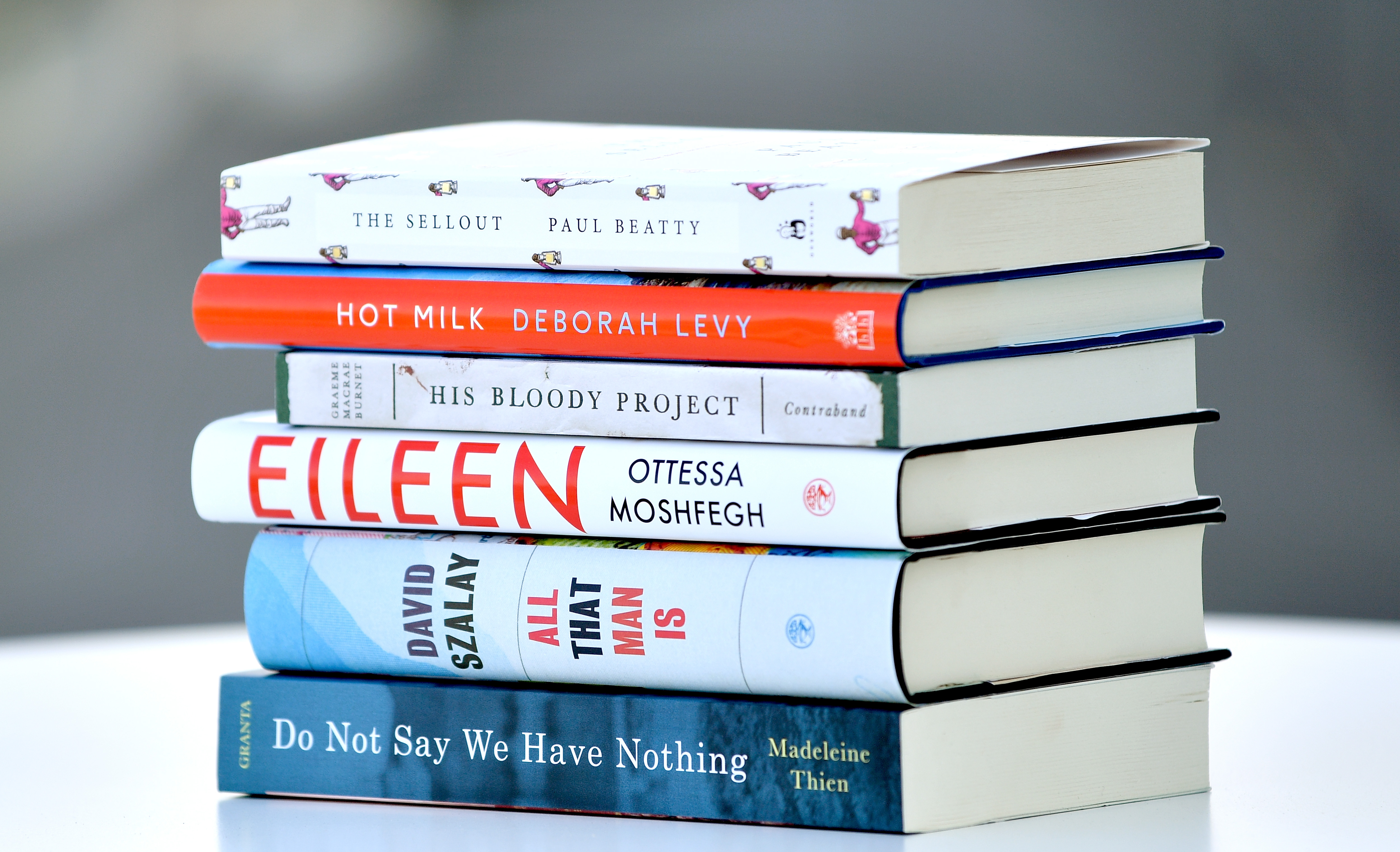 LONDON, ENGLAND - SEPTEMBER 13:  A general view of the books shortlisted for the Man Booker Prize For Fiction during a press conference at the offices of sponsor Man Group on September 13, 2016 in London, England.  (Photo by Gareth Cattermole/Getty Images)