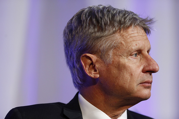 Gary Johnson, 2016 Libertarian presidential nominee, listens to questions from audience members during a campaign event at Purdue University in West Lafayette, Indiana, U.S., on Tuesday, Sept. 13, 2016.