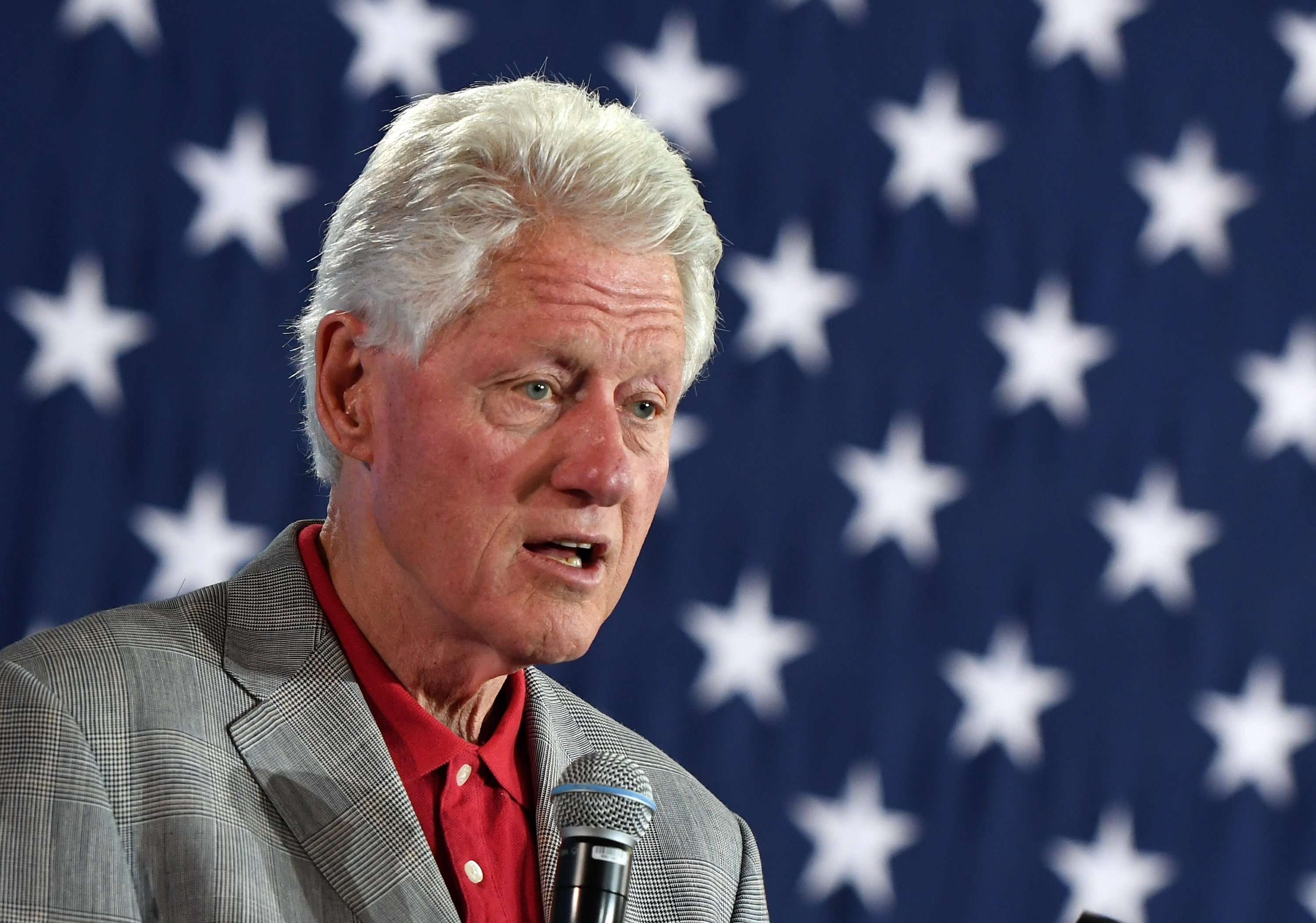 Former U.S. President Bill Clinton speaks at a campaign event for Democratic presidential nominee Hillary Clinton at a College of Southern Nevada campus on September 14, 2016 in North Las Vegas, Nevada. Ethan Miller—Getty Images