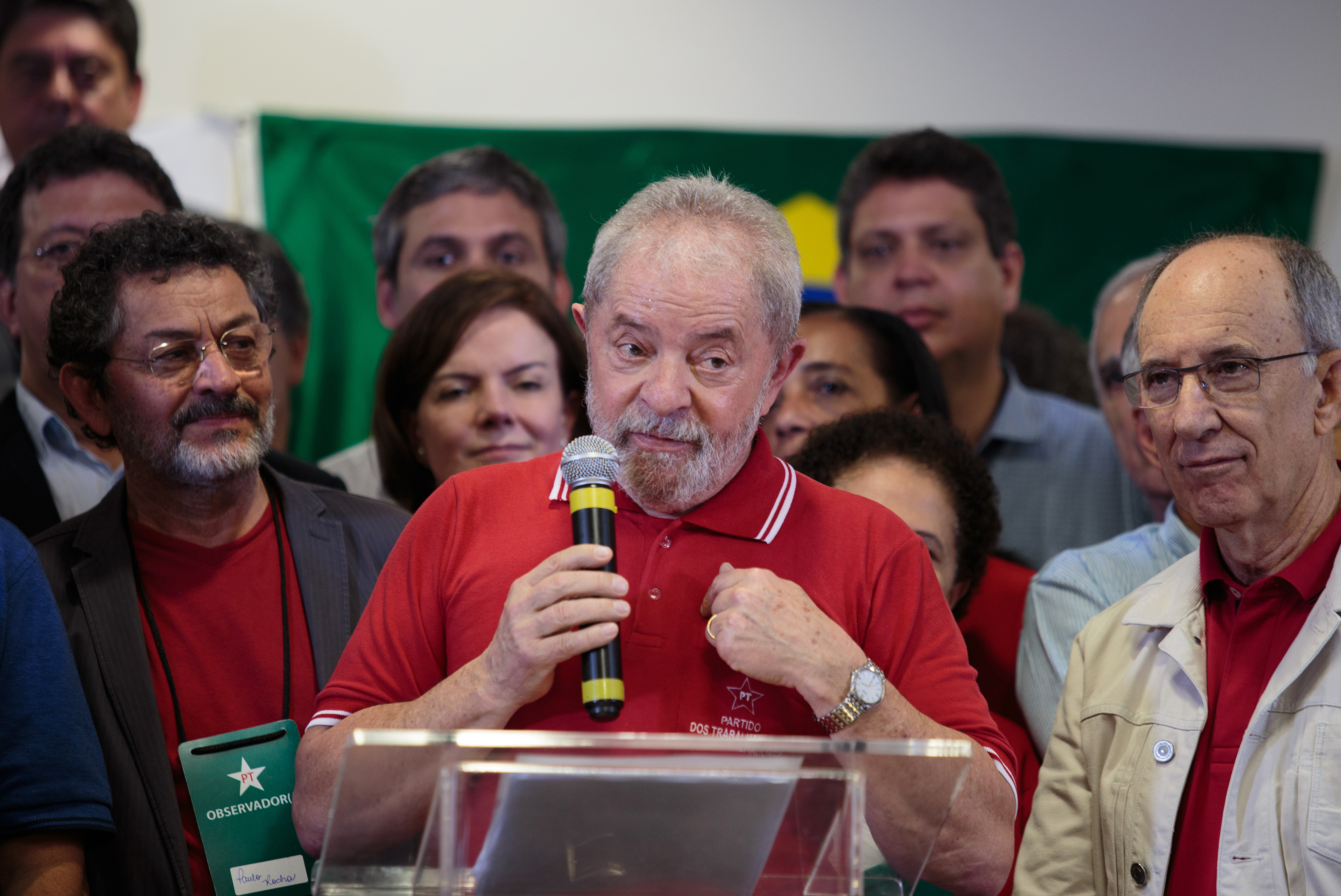 Luiz Inacio Lula da Silva, former president of Brazil, gestures while speaking during a news conference in Sao Paulo, Brazil, on Sept 15, 2016. Lula fought back against charges of corruption and money laundering a day after federal prosecutors accused him of directing the biggest corruption scheme in the nation's history.