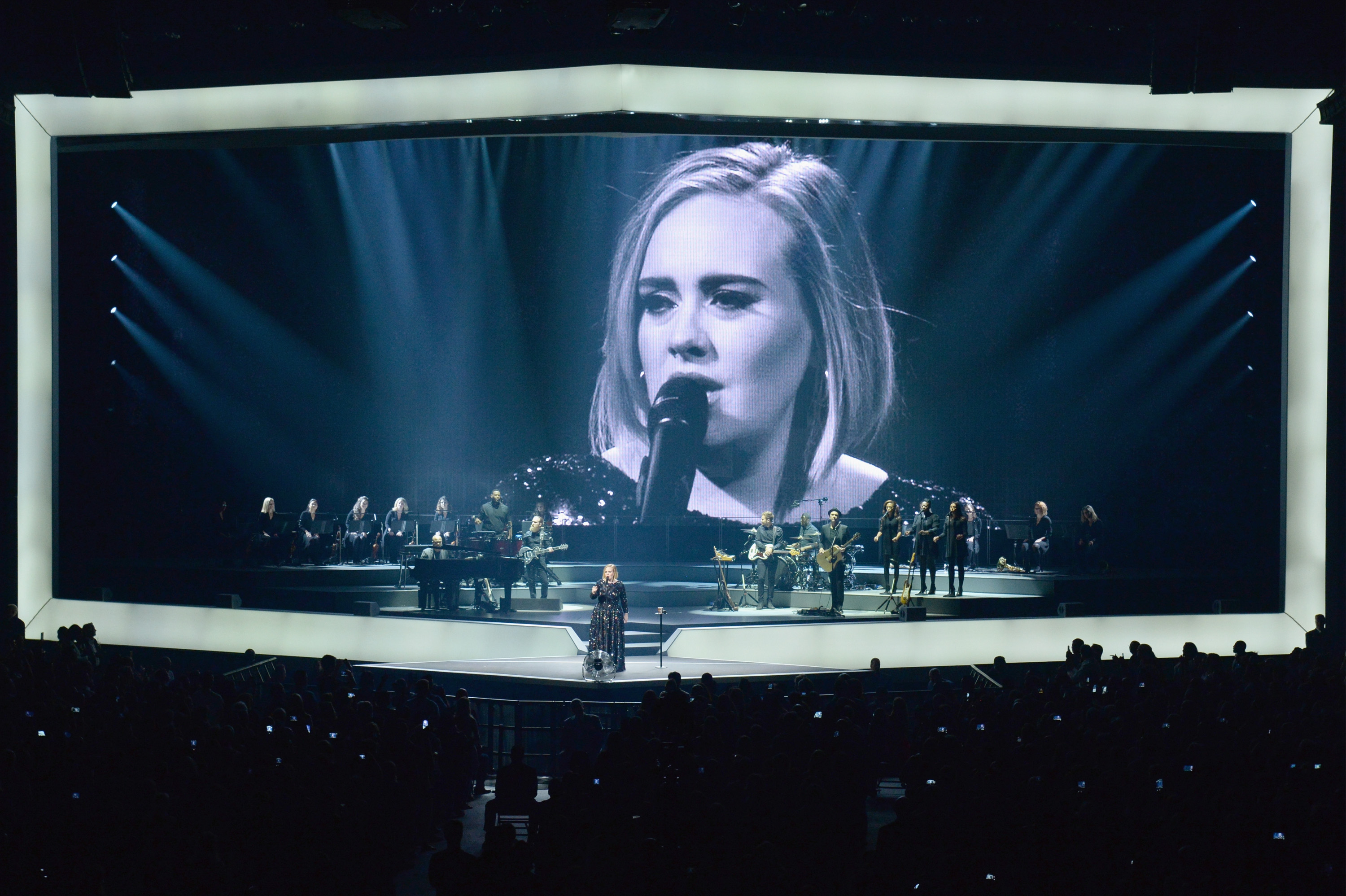 Singer Adele performs onstage at Madison Square Garden on Sept. 19, 2016 in New York City.