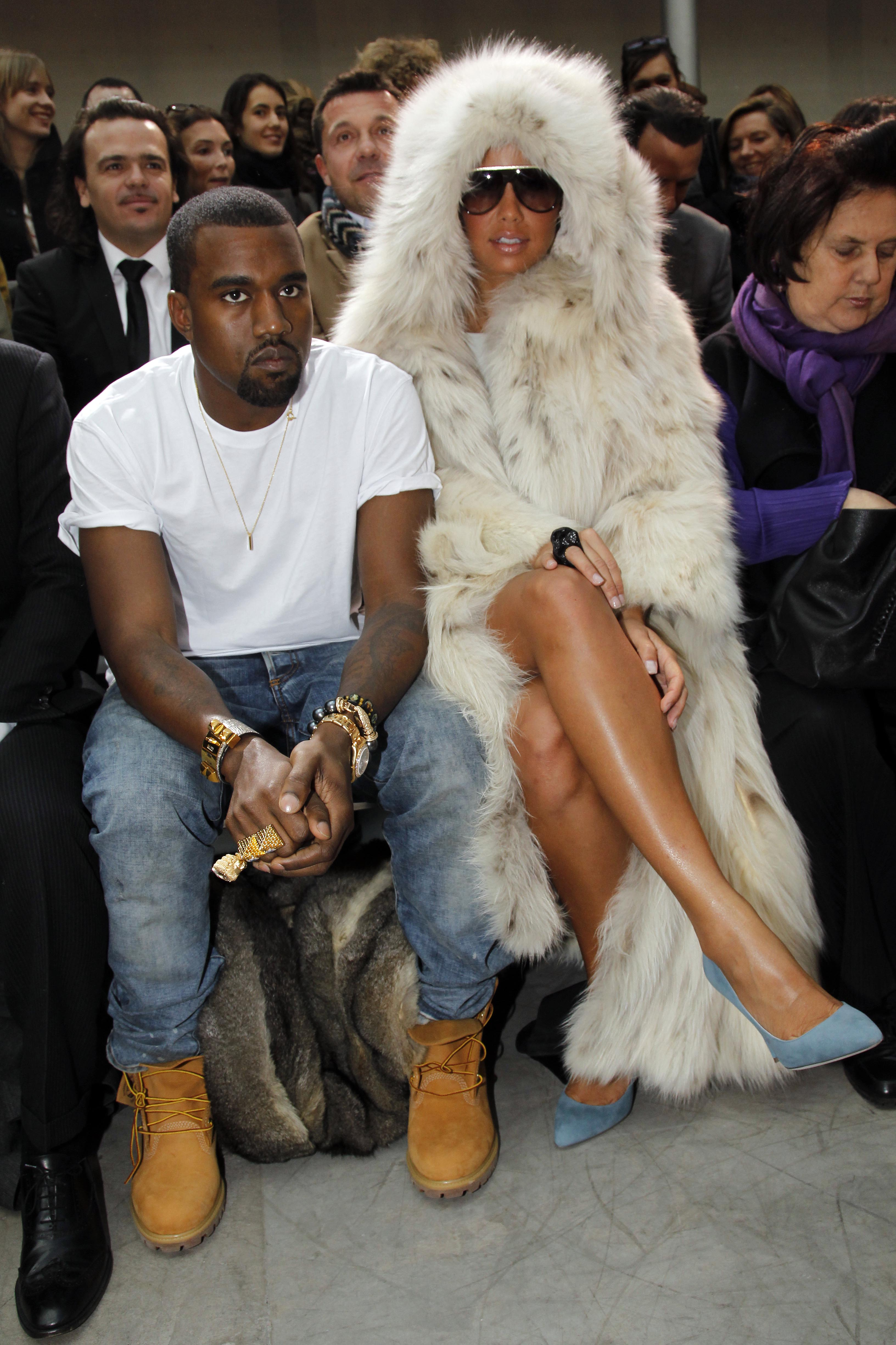 Kanye West Sitting Front Row At Fashion Week Time