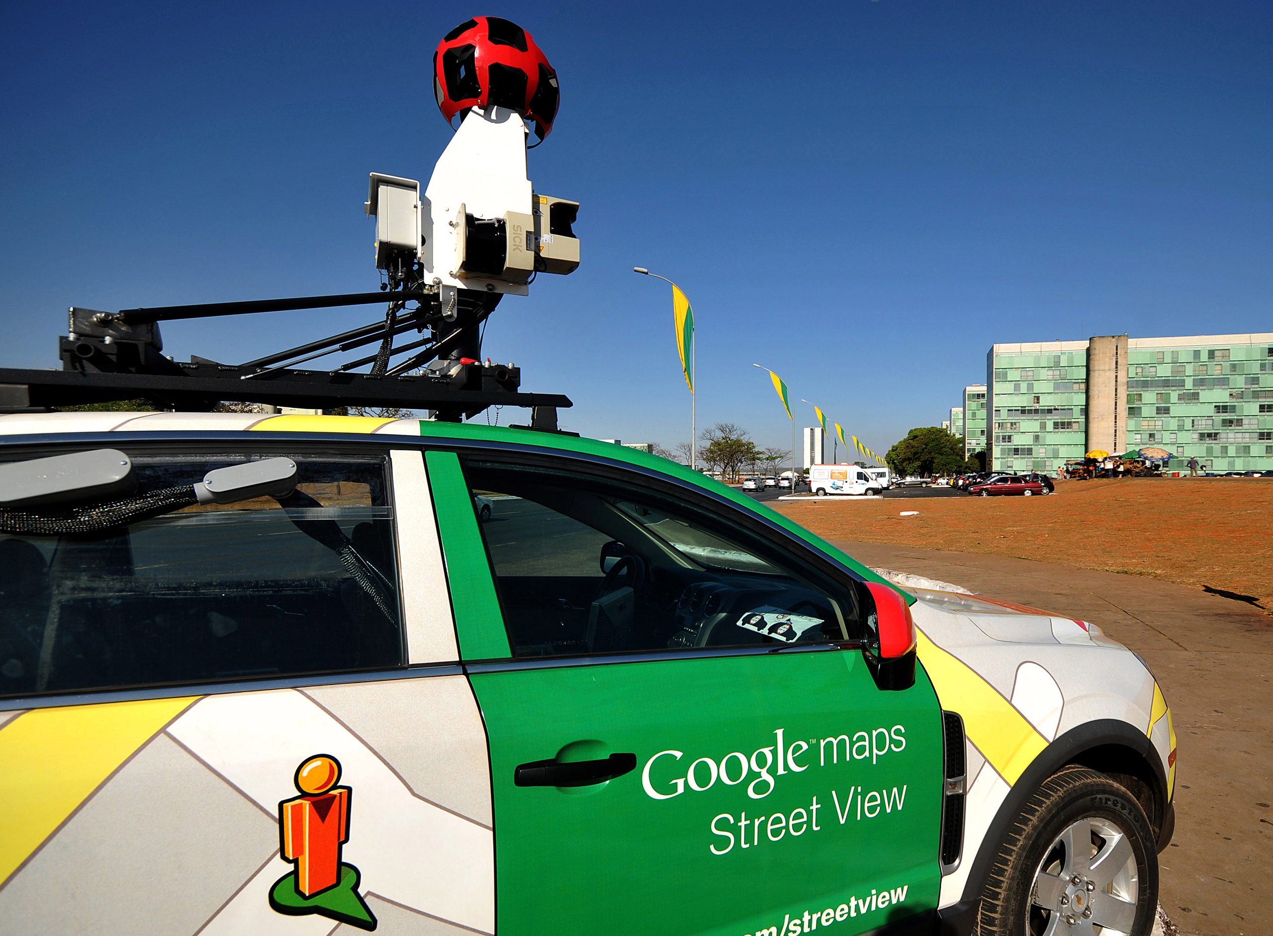 The Google street view car in the streets of Brasilia, Brazil, on Sept. 6, 2011.