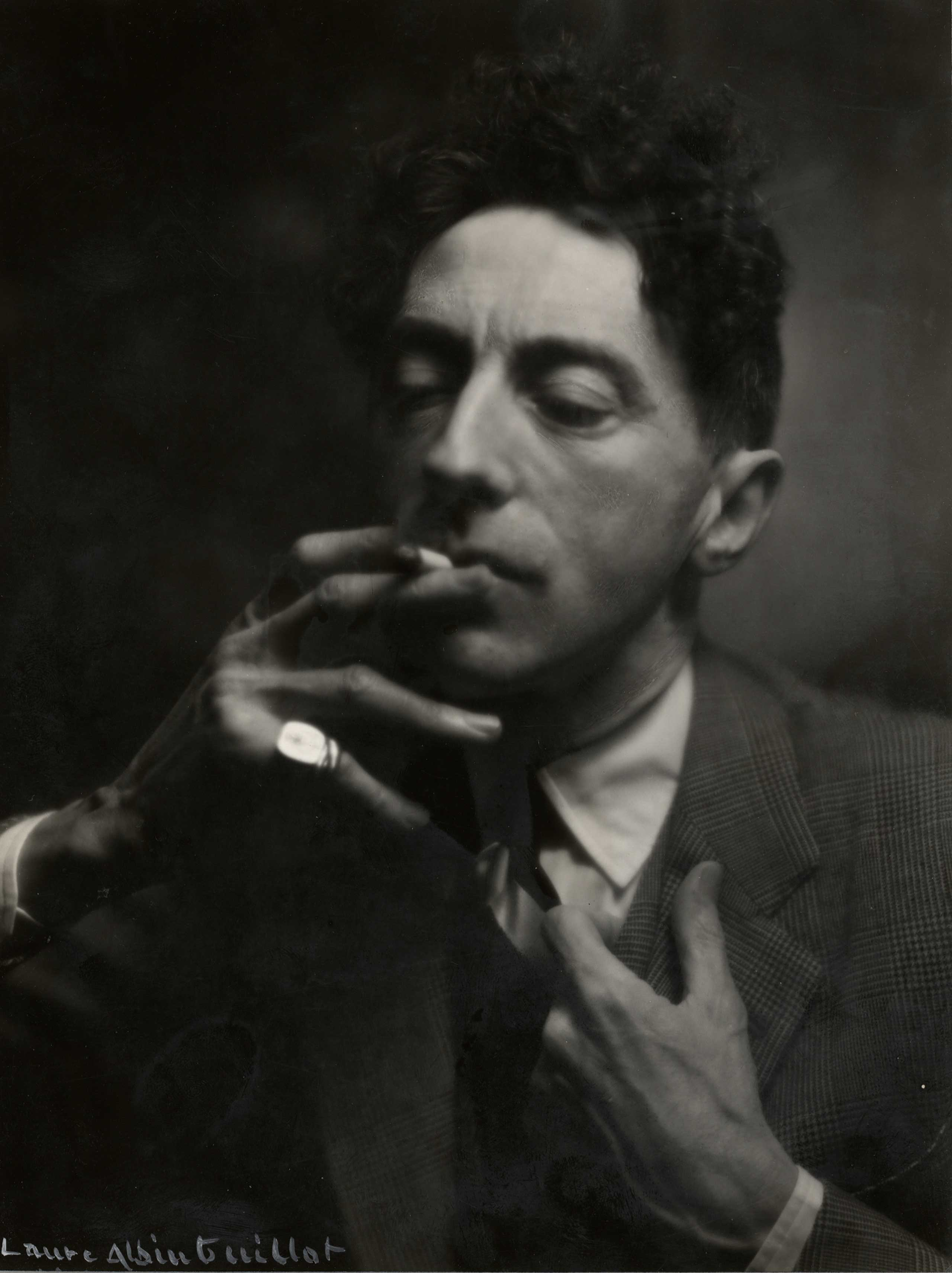 Live and Life Will Give You Pictures: Masterworks of French Photography, 1890 -1950, The Barnes Foundation, Pa.: Oct. 8 - Jan. 9                                                              (Caption: Jean Cocteau, 1934)