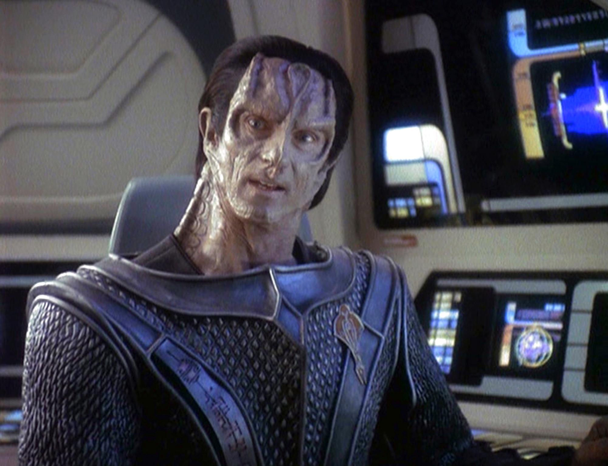 Marc Alaimo as Gul Dukat in the STAR TREK: DEEP SPACE NINE episode,  Indiscretion.  Season 4, episode, 4. Original air date, October 23, 1995.