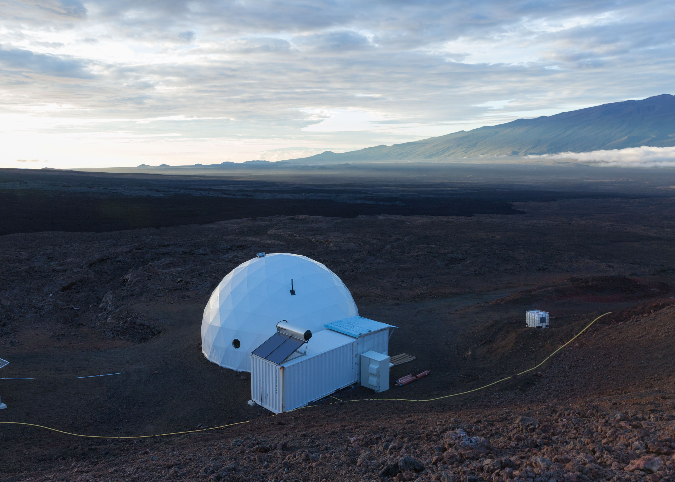 The HI-SEAS Mars simulation habitat on the Mauna Loa volcano in Hawaii.