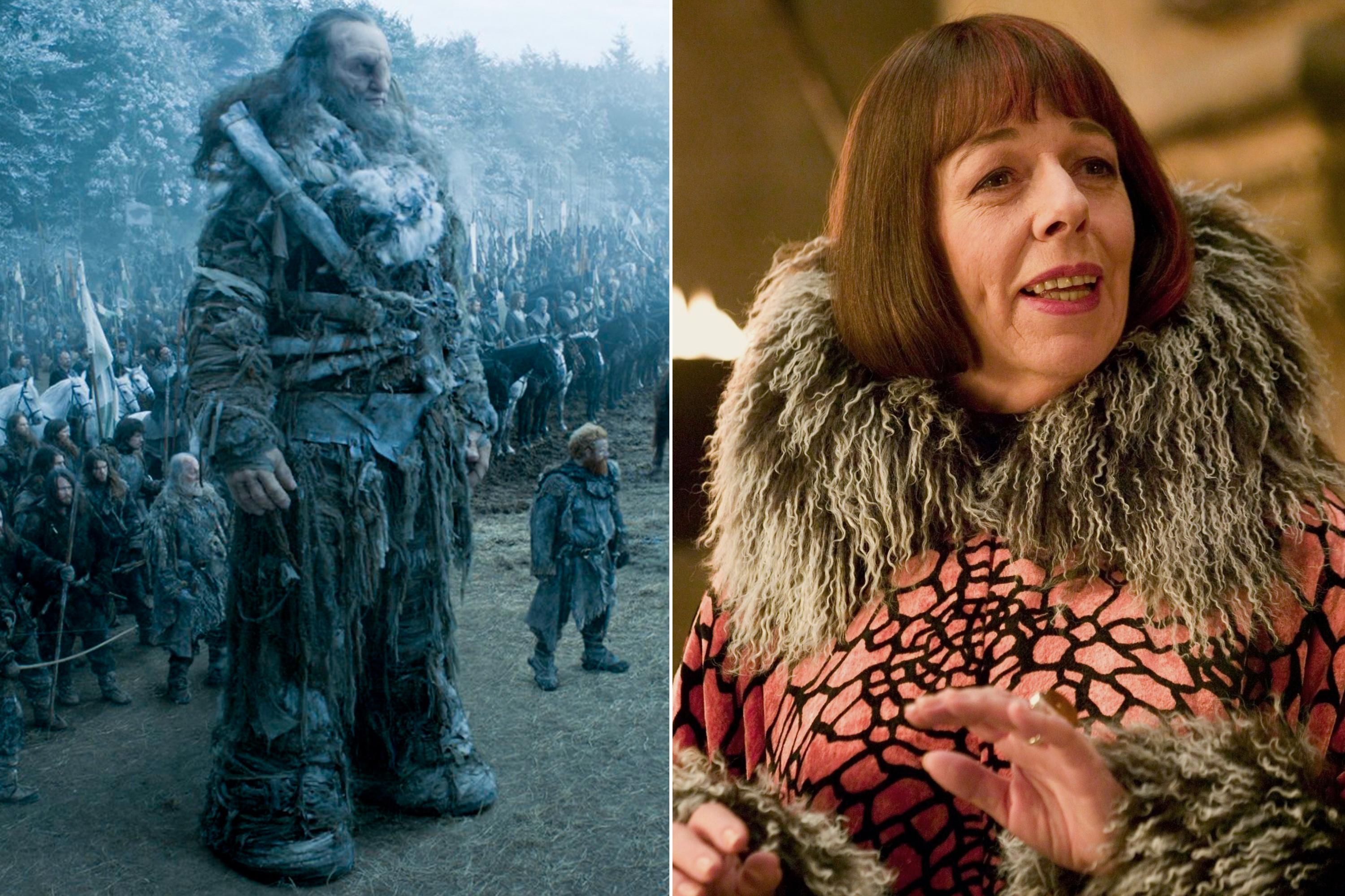 Ian Whyte as Wun Wun and Madame Olympe Maxime ( for full-body shots)