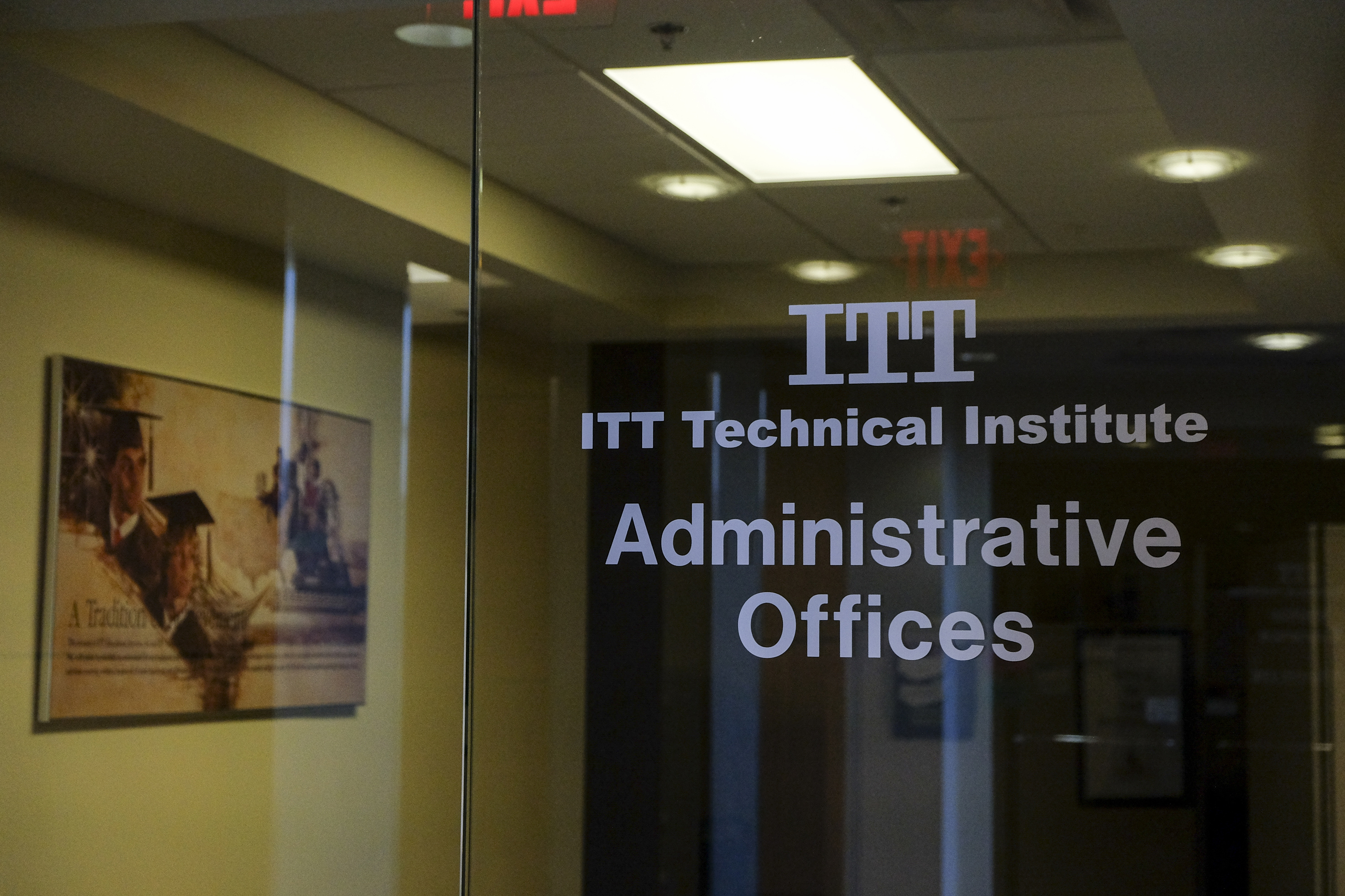 The Chantilly Campus of ITT Technical Institute sits closed and empty on Sept. 6, 2016.
