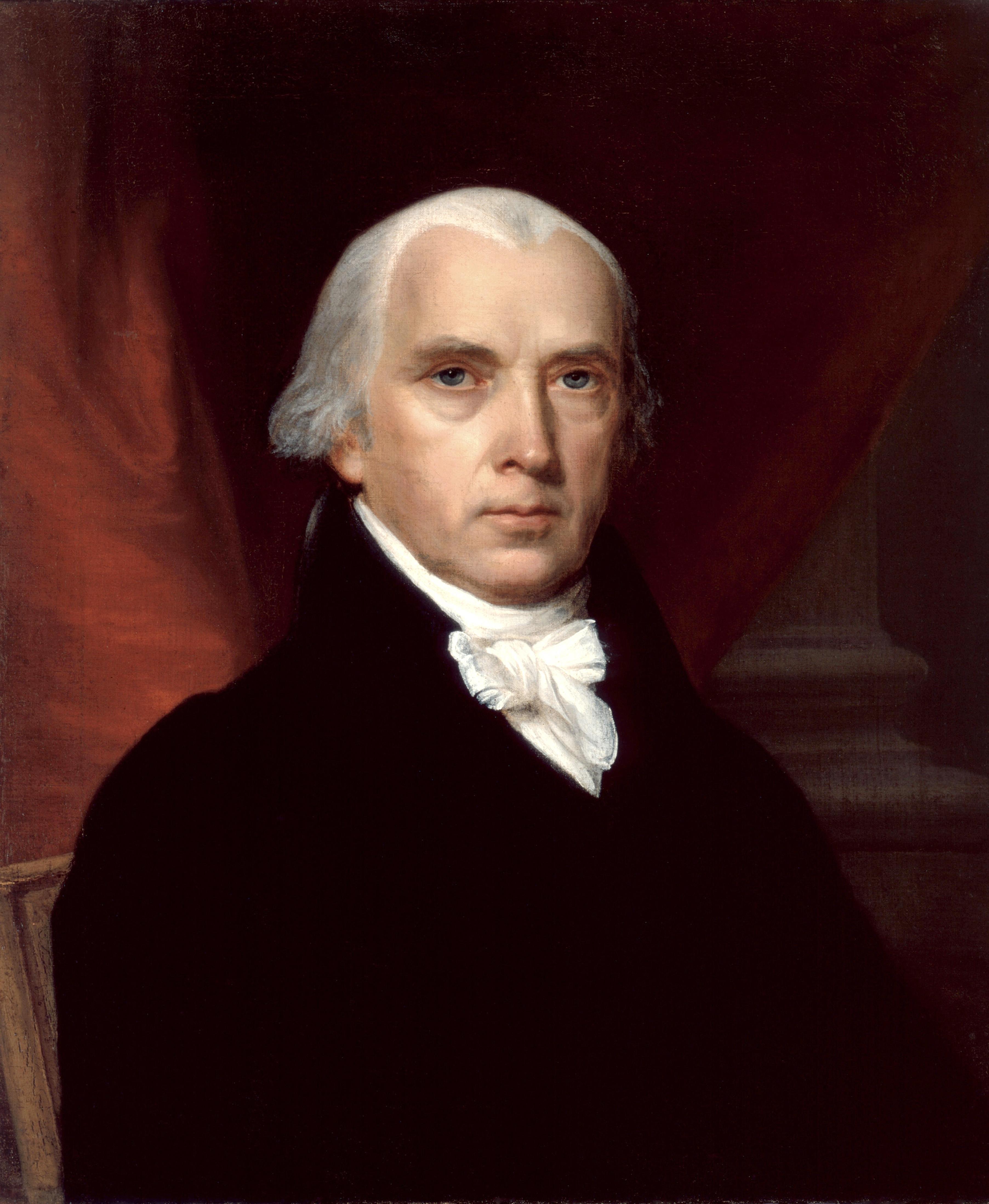 Portrait of James Madison.