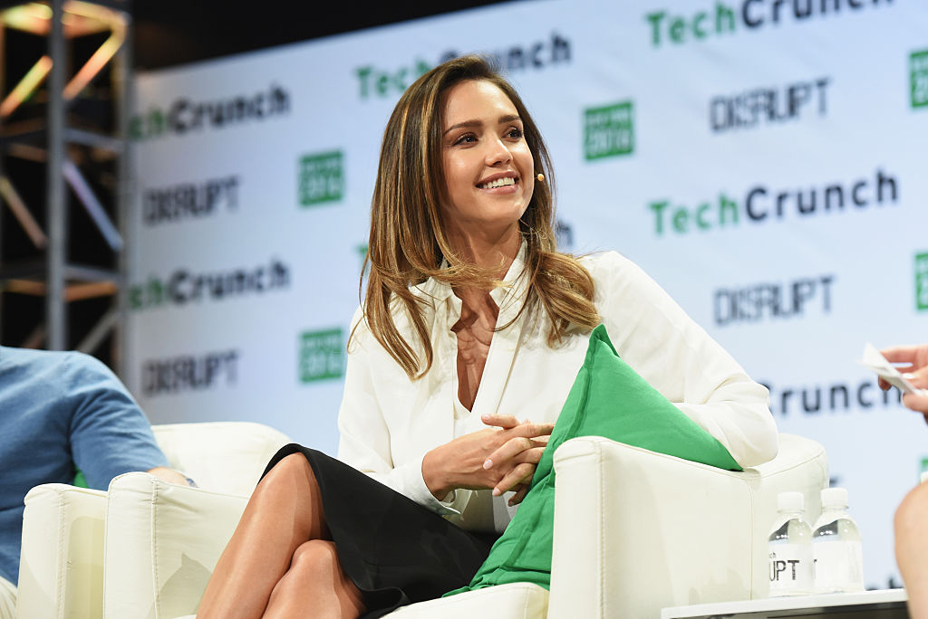 Co-founder of The Honest Company Jessica Alba speaks onstage during TechCrunch Disrupt NY 2016 at Brooklyn Cruise Terminal on May 11, 2016 in New York City.