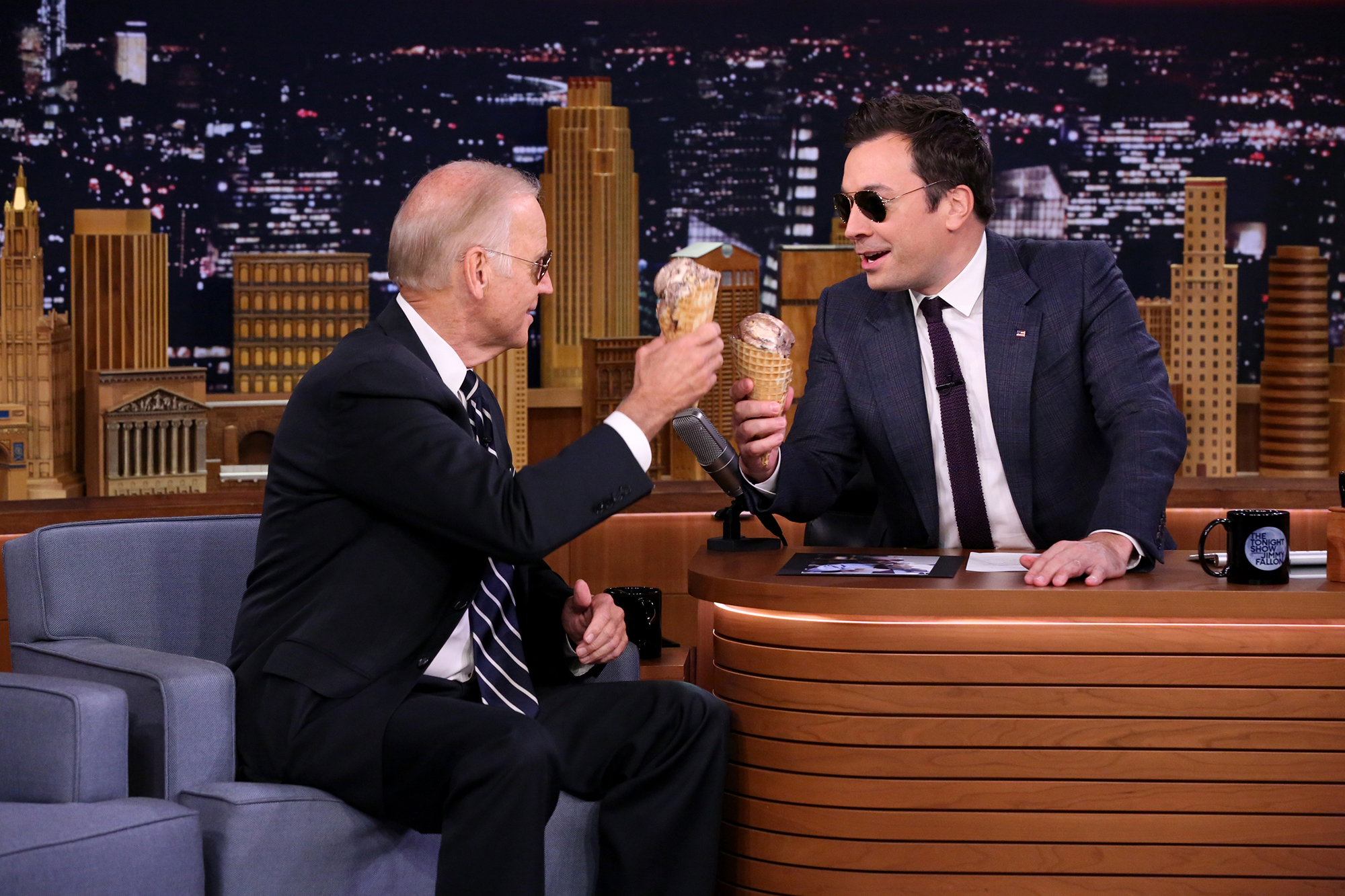 Joe Biden during an interview with host Jimmy Fallon on September 29, 2016 -- (Photo by: Andrew Lipovsky/NBC/NBCU Photo Bank via Getty Images)