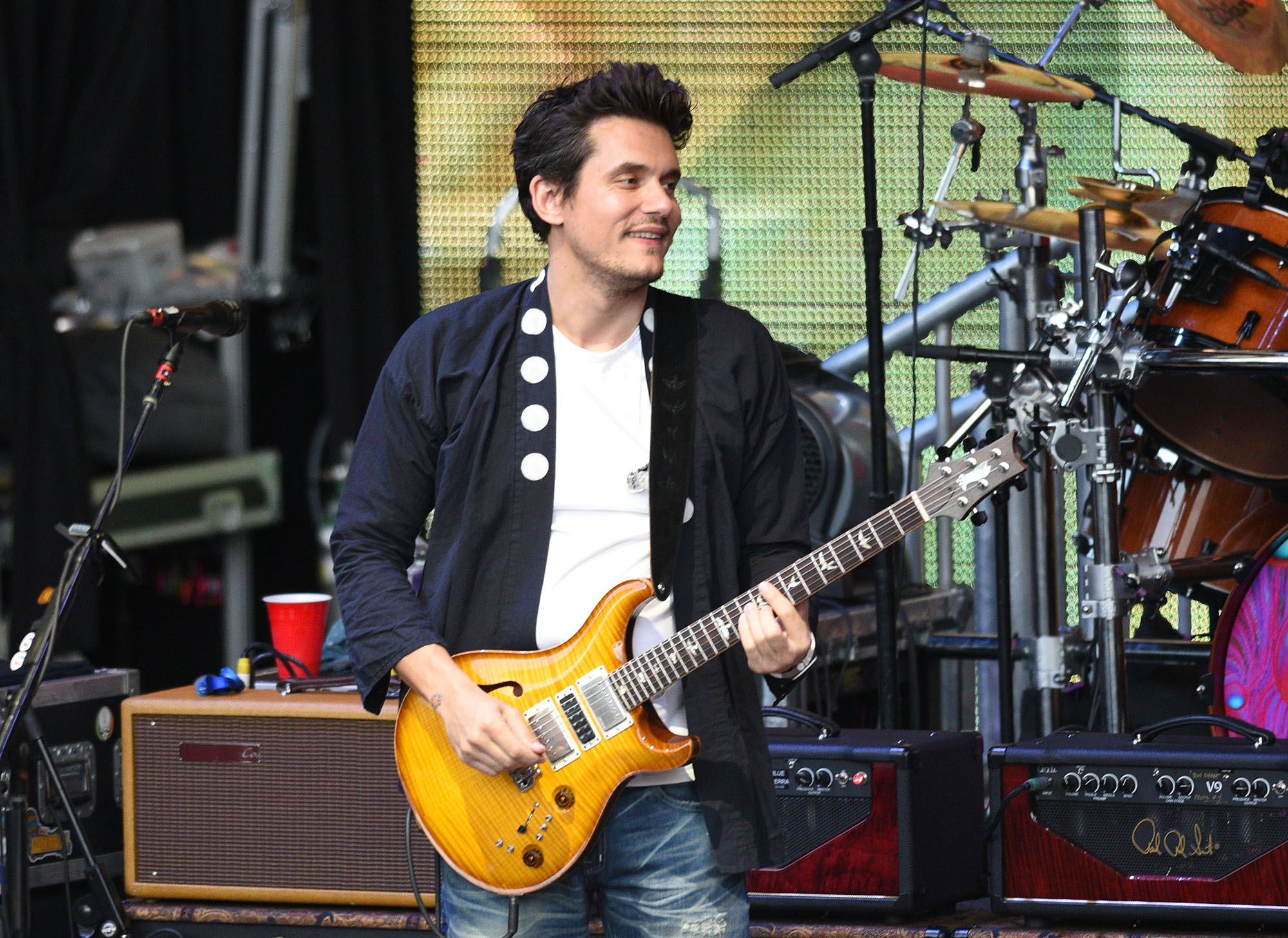 John Mayer of Dead and Company performs during the 2016 summer tour closing show at Shoreline Amphitheatre on July 30, 2016 in Mountain View, California