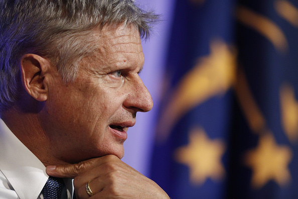 Gary Johnson, 2016 Libertarian presidential nominee, speaks during a campaign event at Purdue University in West Lafayette, Indiana, U.S., on Tuesday, Sept. 13, 2016.