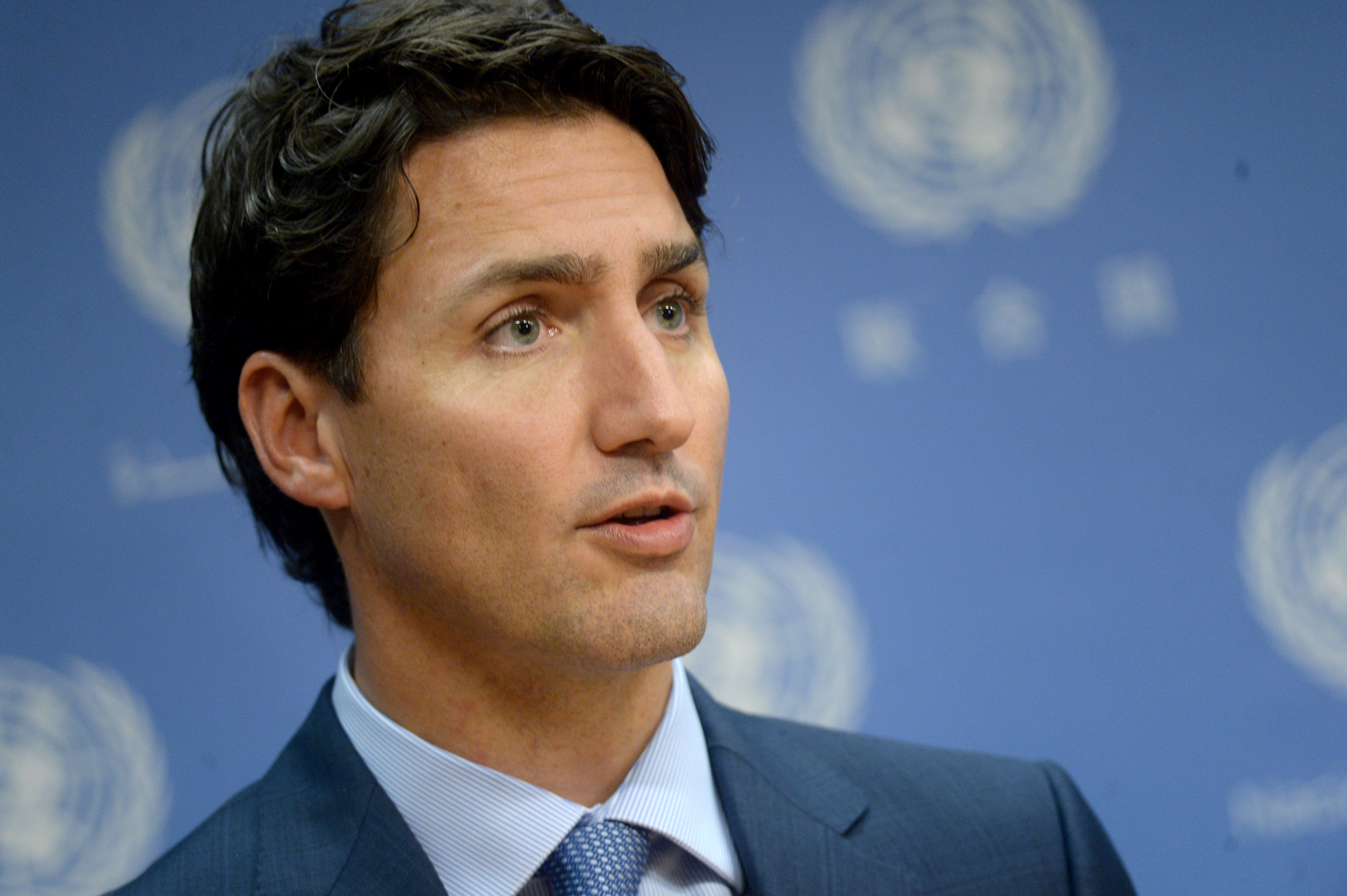 Canadian PM Justin Trudeau gives a press conference on the margins of the 71st session of UN General Assembly in New York City on Sept. 20, 2016.
