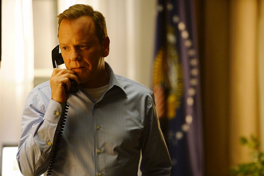 Kiefer Sutherland stars as Tom Kirkman, a lower-level cabinet member who is suddenly appointed President of the United States after a catastrophic attack on the U.S. Capitol during the State of the Union, on the highly anticipated ABC series