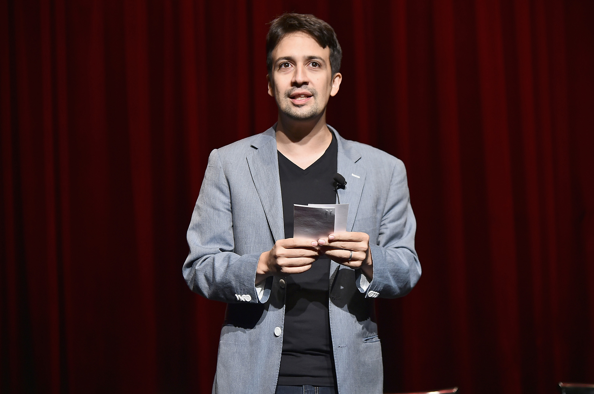Lin-Manuel Miranda attends the  Grease: Live  Panel & Reception at The Edison Ballroom on August 15, 2016 in New York City.  (Photo by Theo Wargo/Getty Images)
