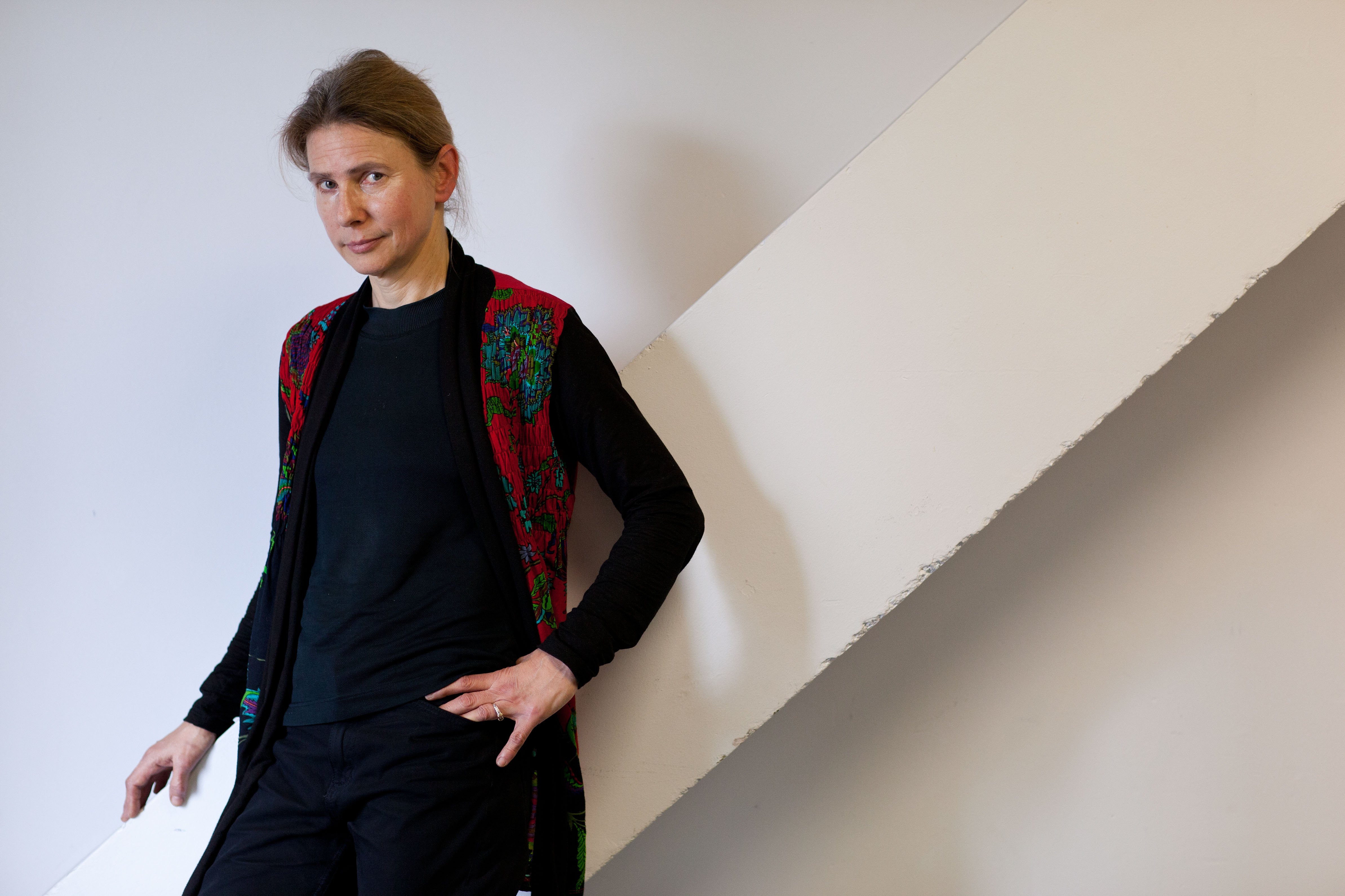 Author Lionel Shriver at the London Book Fair on April 15, 2013.