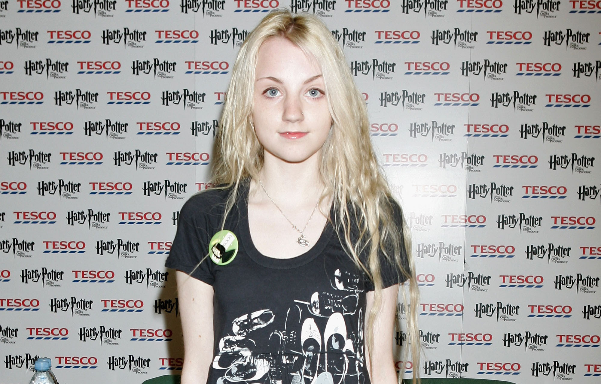 Harry Potter actress Evanna Lynch (Luna Lovegood) poses for a photograph at a photocall in Tescos Extra Watford on July 14, 2007 in London, England.  (Photo by Chris Jackson/Getty Images)