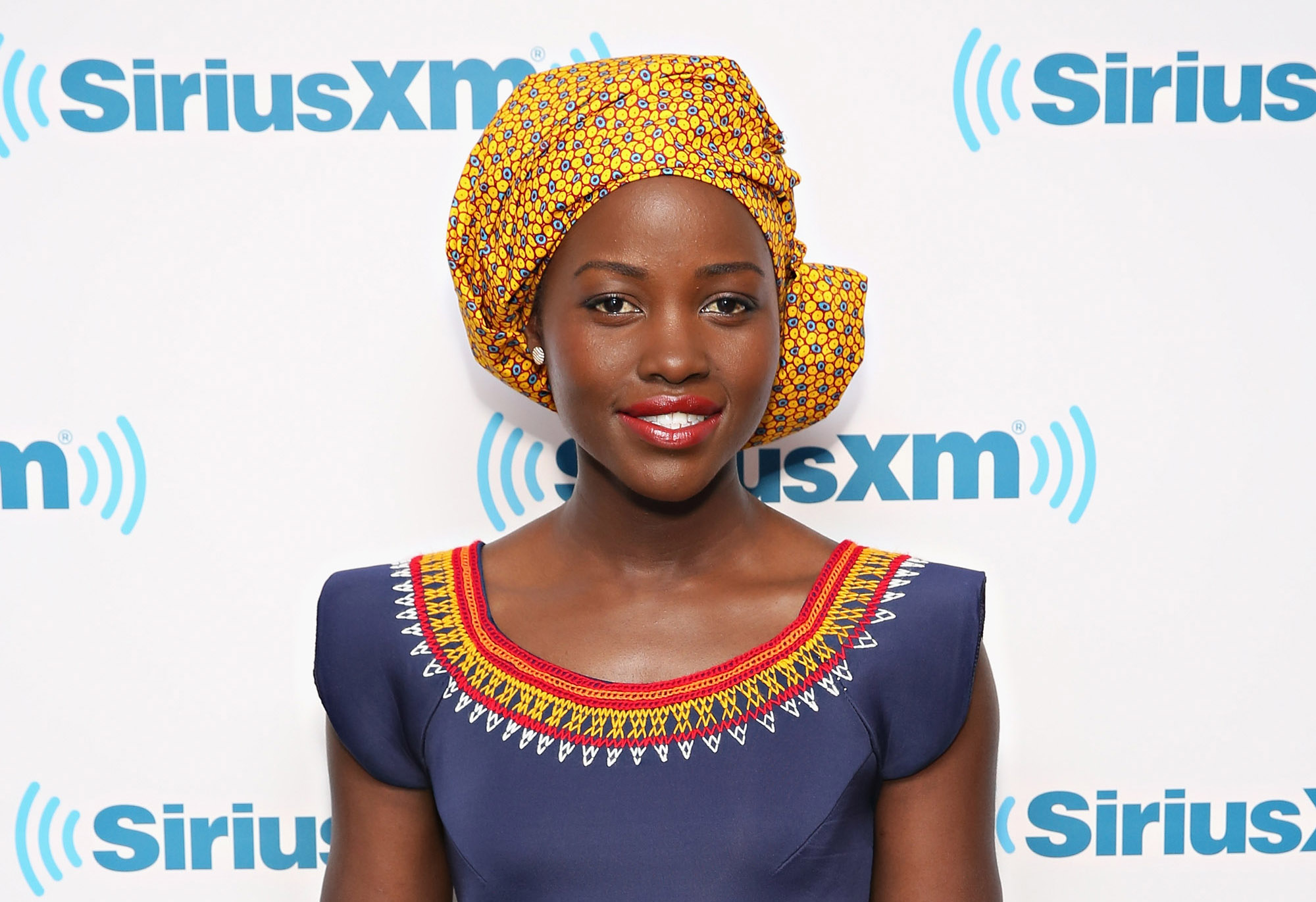 Lupita Nyong'o visits the SiriusXM Studios on September 26, 2016 in New York City.  (Photo by Cindy Ord/Getty Images)