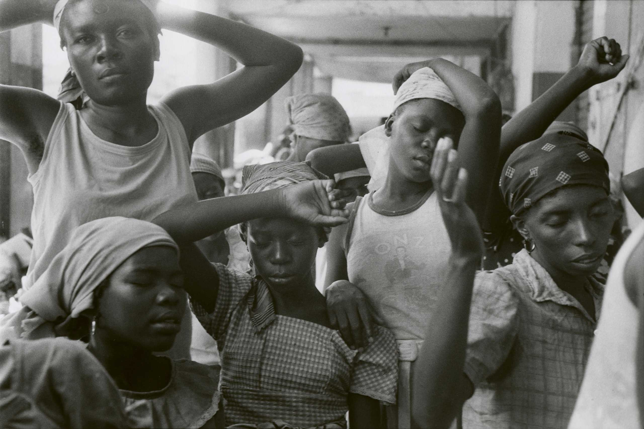 Danny Lyon: Journey, Edwynn Houk Gallery, N.Y.: Sept. 9 - Oct. 15                                                                                             (Caption: The Haitian Women, Port Au Prince, 1986)