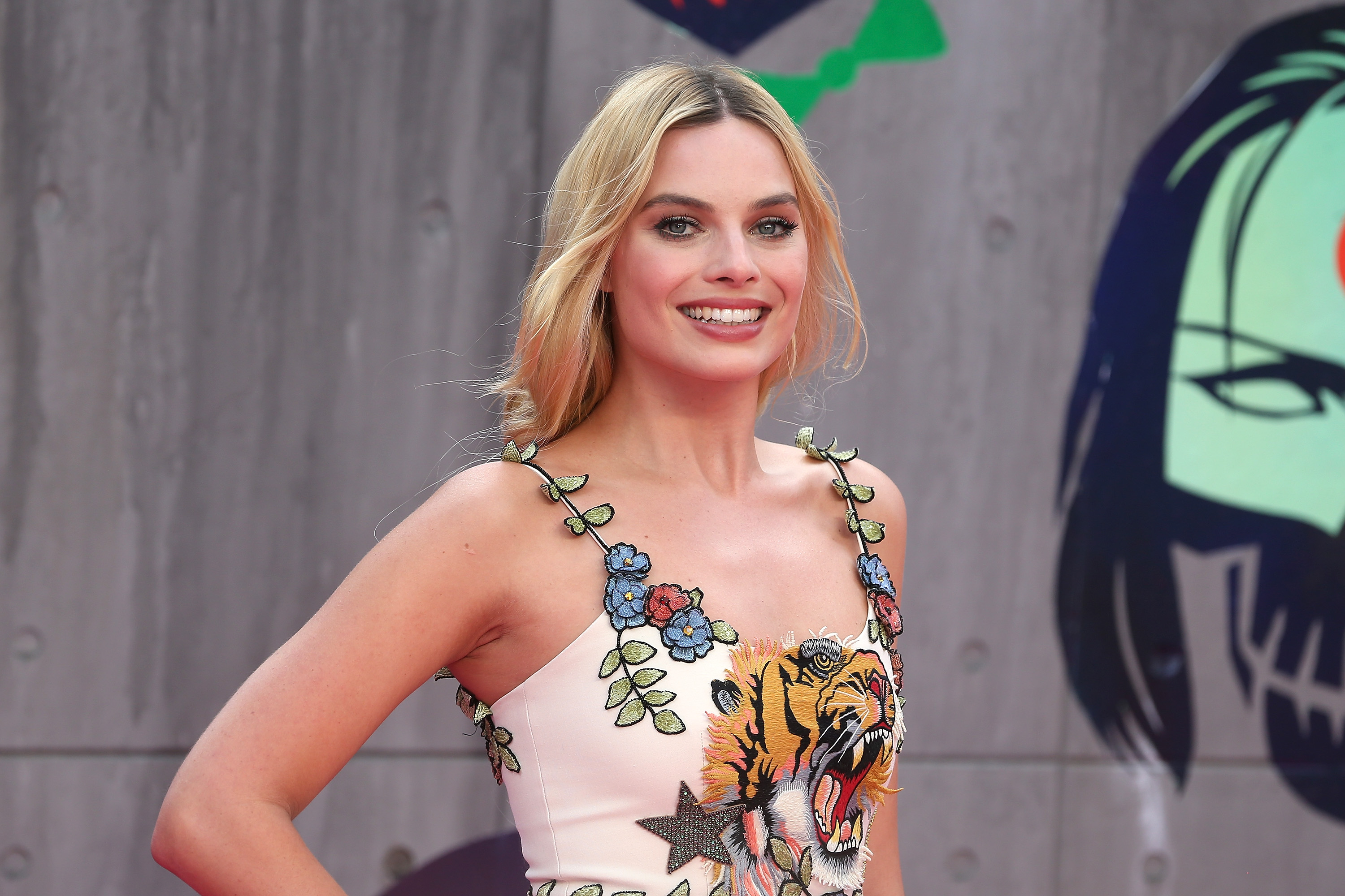 Margot Robbie attends the European Premiere of  Suicide Squad  at Odeon Leicester Square on August 3, 2016 in London, England.