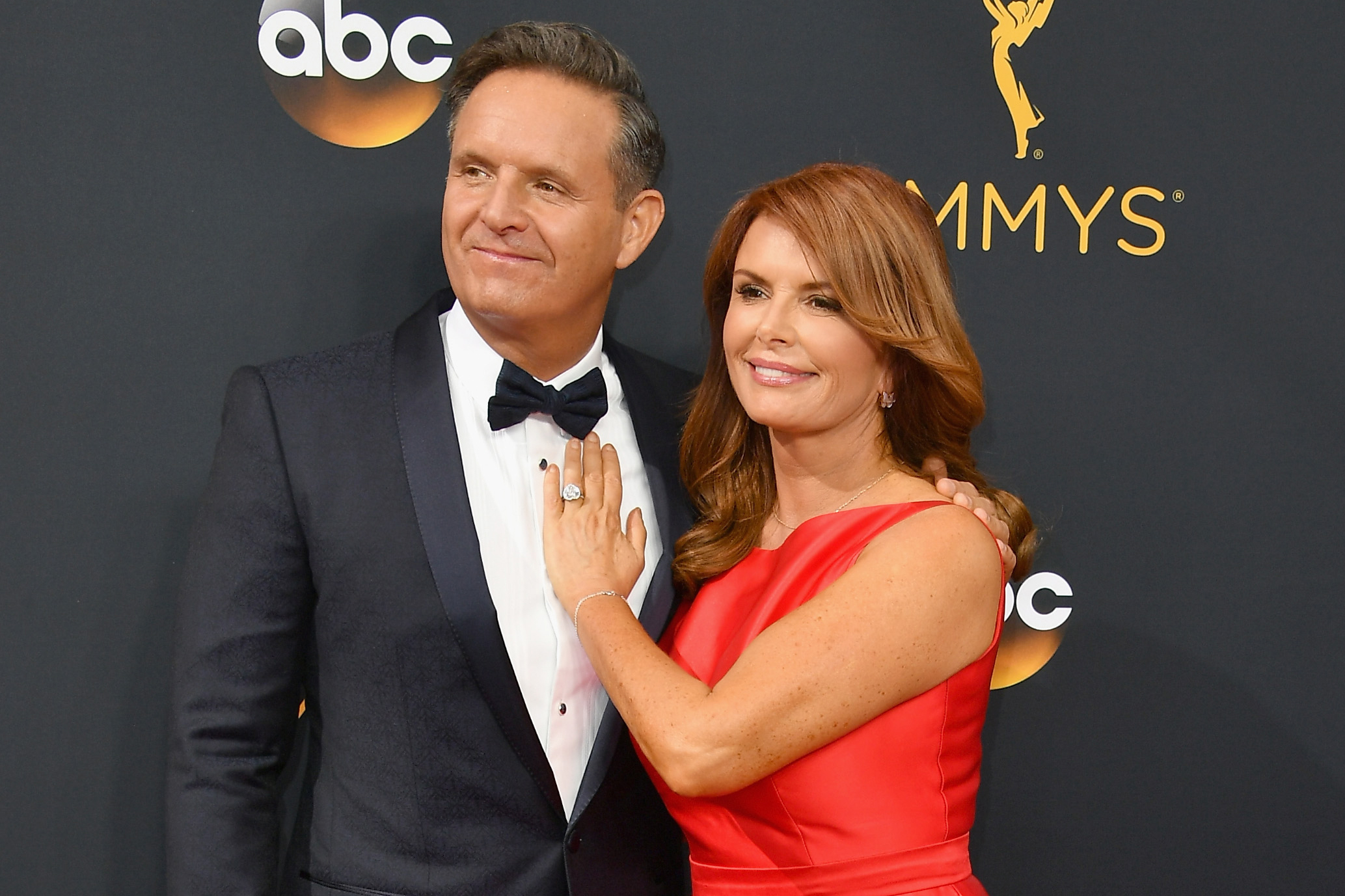 Mark Burnett and Roma Downey attend the 68th Annual Primetime Emmy Awards at Microsoft Theater on Sept. 18, 2016 in Los Angeles.