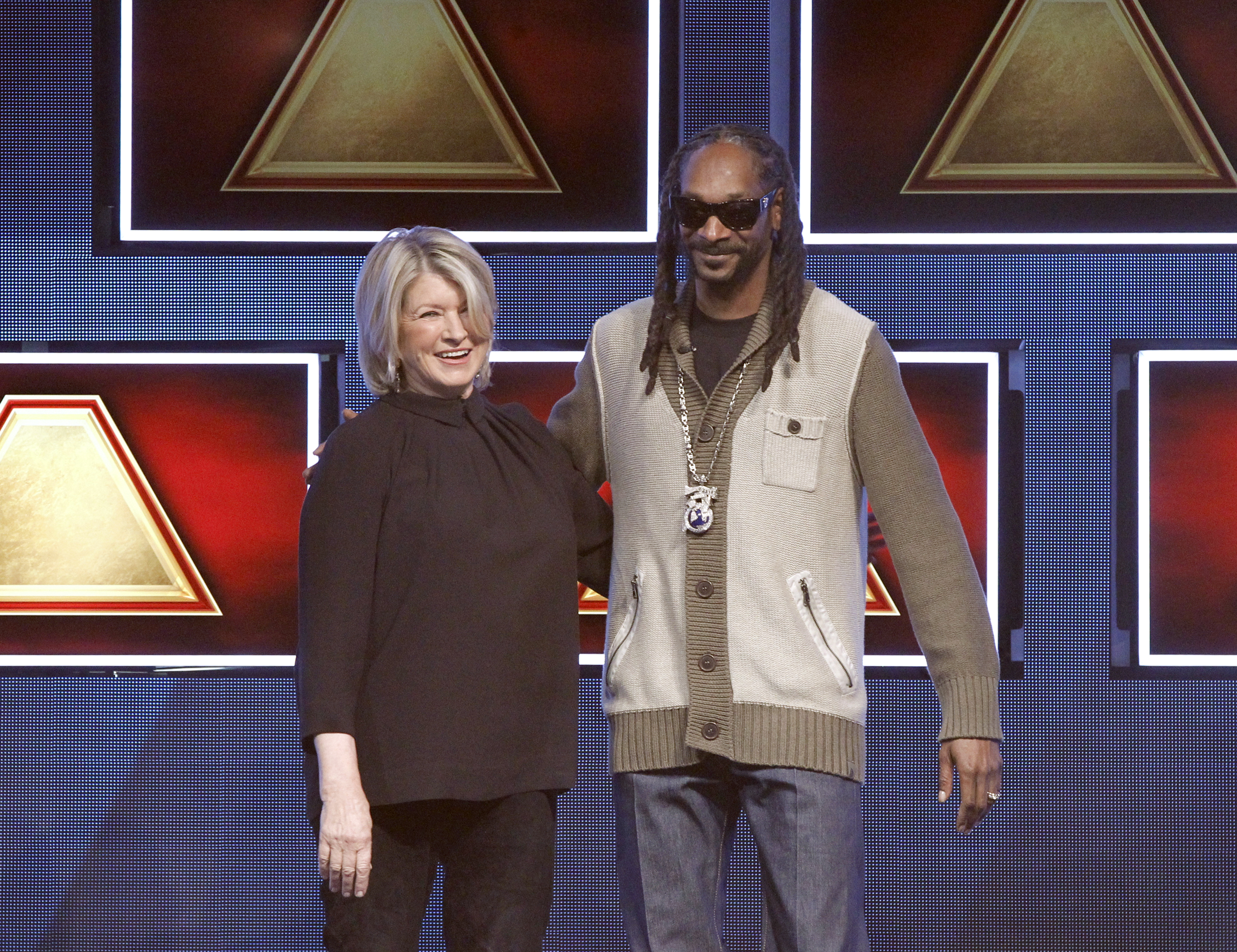 Martha Stewart and Snoop Dogg compete for prizes on a recent ABC game show.