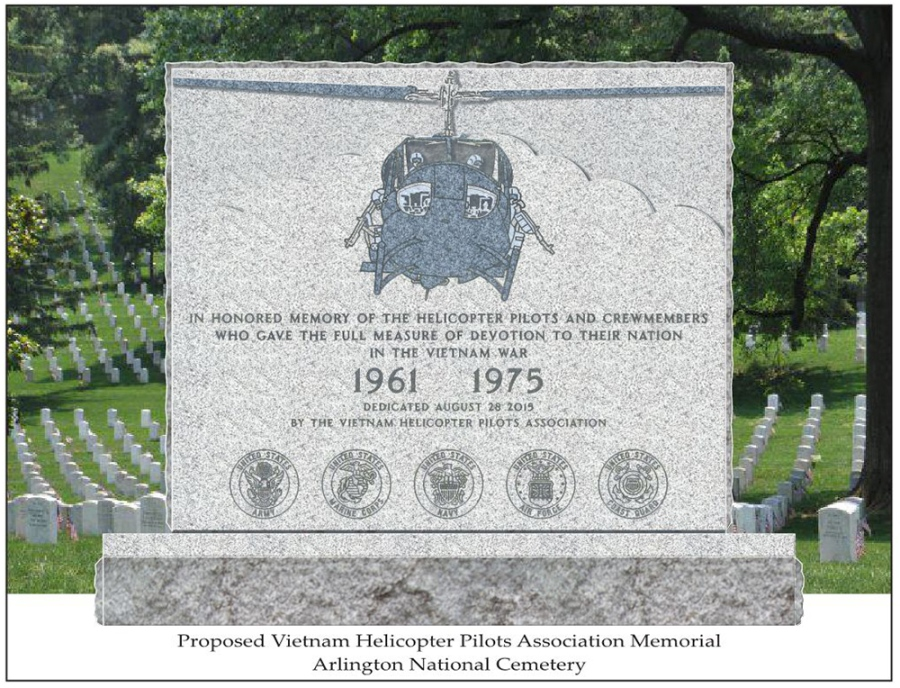 The proposed monument honoring the U.S. helicopter crews who died in Vietnam.
