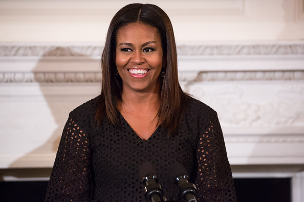 In the State Dining Room at the White House, September 8, 2016 in Washington, DC, First Lady Michelle Obama welcomed the fifth annual class of the National Student Poets Program.