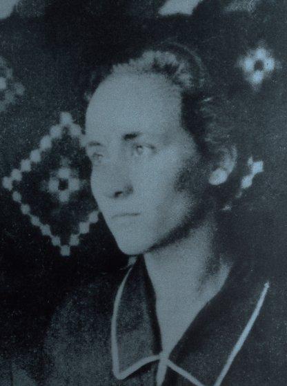 Anjezë Gonxhe Bojaxhiu, the future Mother Teresa, at age 18 in Albania.