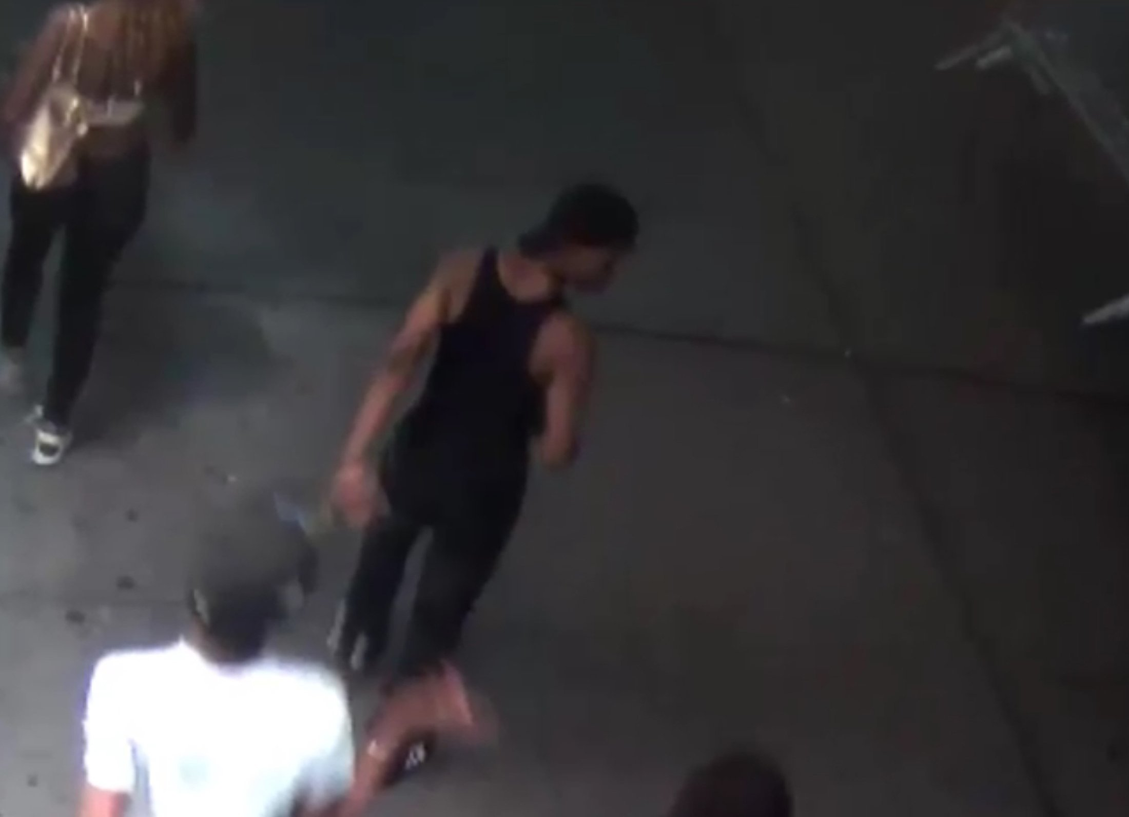 New York Police released a video of a man, seen in this still image taken from that video, suspected of setting fire to a traditionally-dressed Muslim woman as she window shopped on Park Avenue, in New York, Sept. 13, 2016.