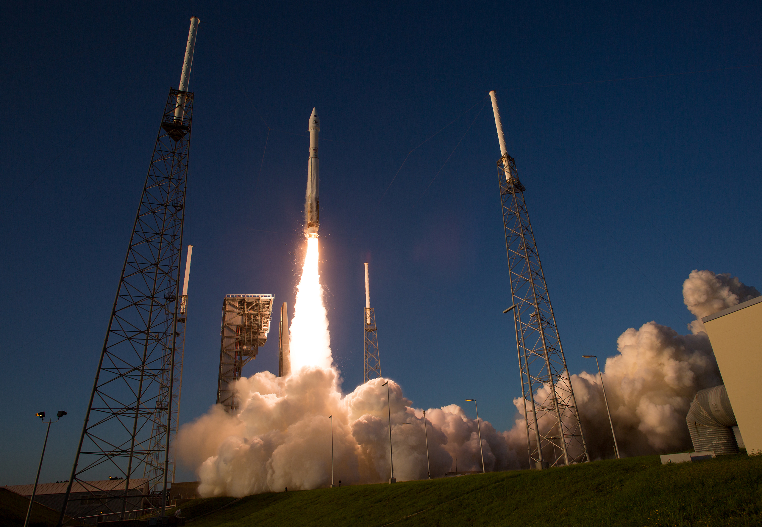 The United Launch Alliance Atlas V rocket carrying NASA's Origins, Spectral Interpretation, Resource Identification, Security-Regolith Explorer (OSIRIS-REx) spacecraft lifts off on from Space Launch Complex 41 at Cape Canaveral Air Force Station in Fla. on Sept. 8, 2016.
