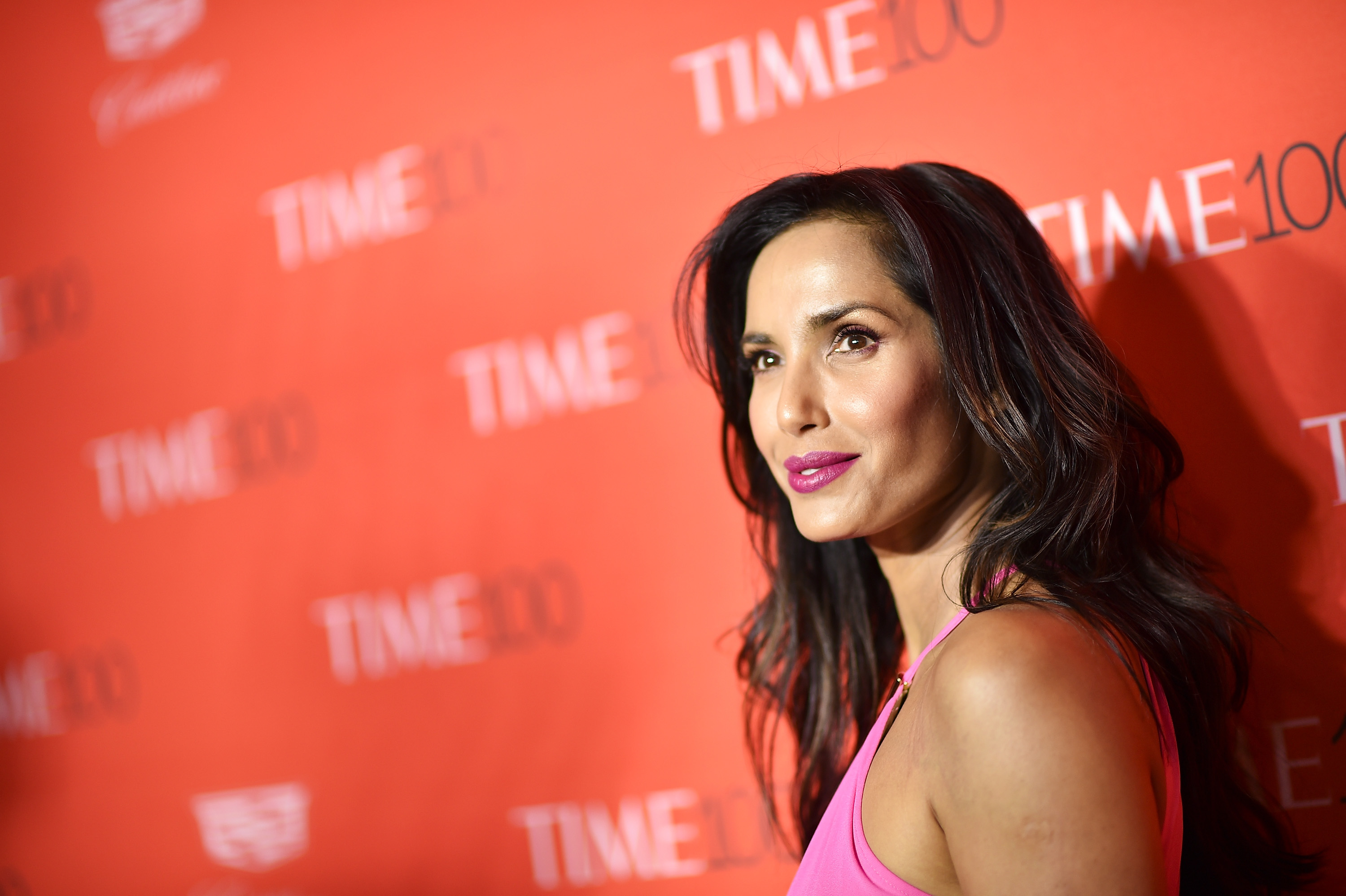 Padma Lakshmi attends 2016 Time 100 Gala, Time's Most Influential People In The World red carpet at Jazz At Lincoln Center at the Times Warner Center on April 26, 2016 in New York City.