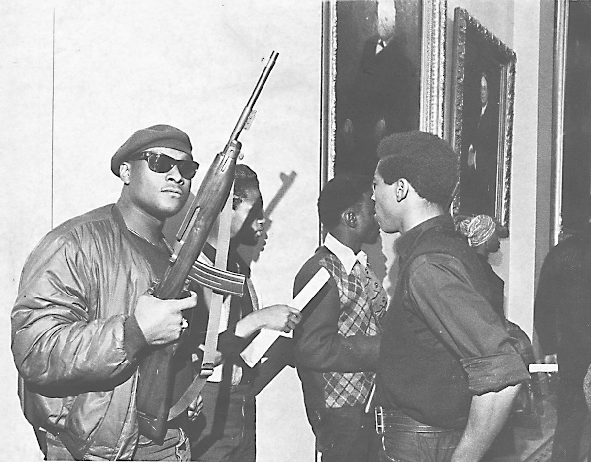 Unidentified members of the Black Panthers during the group's protest at the California Assembly in May 1967 in Sacramento, Calif.